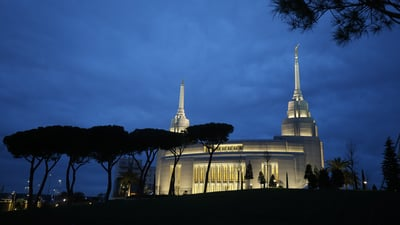 The Rome Italy Temple in Rome, Italy, on Monday, March 11, 2019.