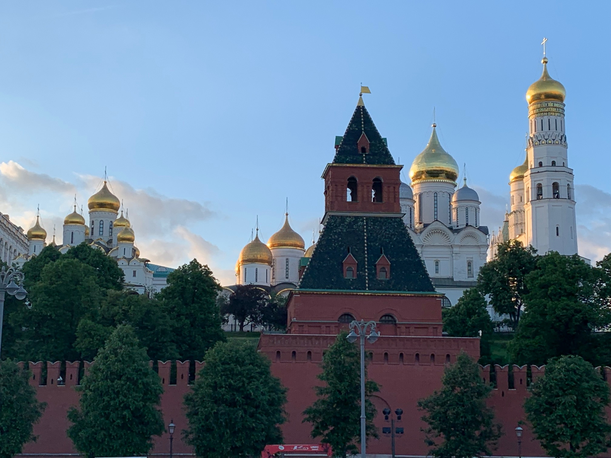 A scenic view of Moscow, Russia, includes one of the Kremlin's many towers and the domes of Russian Orthodox cathedrals. Elder Ronald A. Rasband recently visited the Europe East Area.