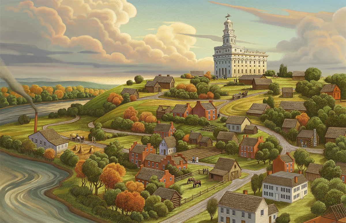 Greg Newbold image of Nauvoo will be featured on the cover of volume 1 of new Church history, Saints: The Story of the Church of Jesus Christ in the Latter Days.