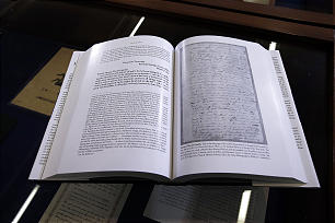 A copy is on display following a a press conference announcing the release of the latest volume in the church's ongoing Joseph Smith Papers project in Salt Lake City, Wednesday, Sept. 4, 2013.