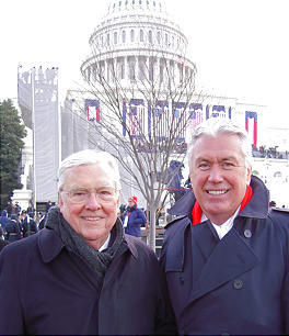 Elder M. Russell Ballard and President Dieter F. Uchtdorf attend the inauguration of President Barack Obama in the nation's Capitol.