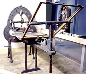 The original Grandin printing press, now sitting in the Museum of Church History and Art in Salt Lake City, was used to print the first copies of the Book of Mormon in 1830. The sacred book of scripture shed light on a darkened world.