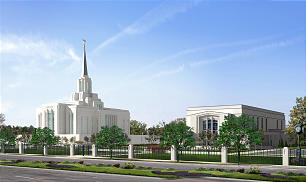 The Church announced plans Feb. 17 to give the Ogden Utah Temple a major renovation and face-lift from the circular design of today to a more contemporary style.