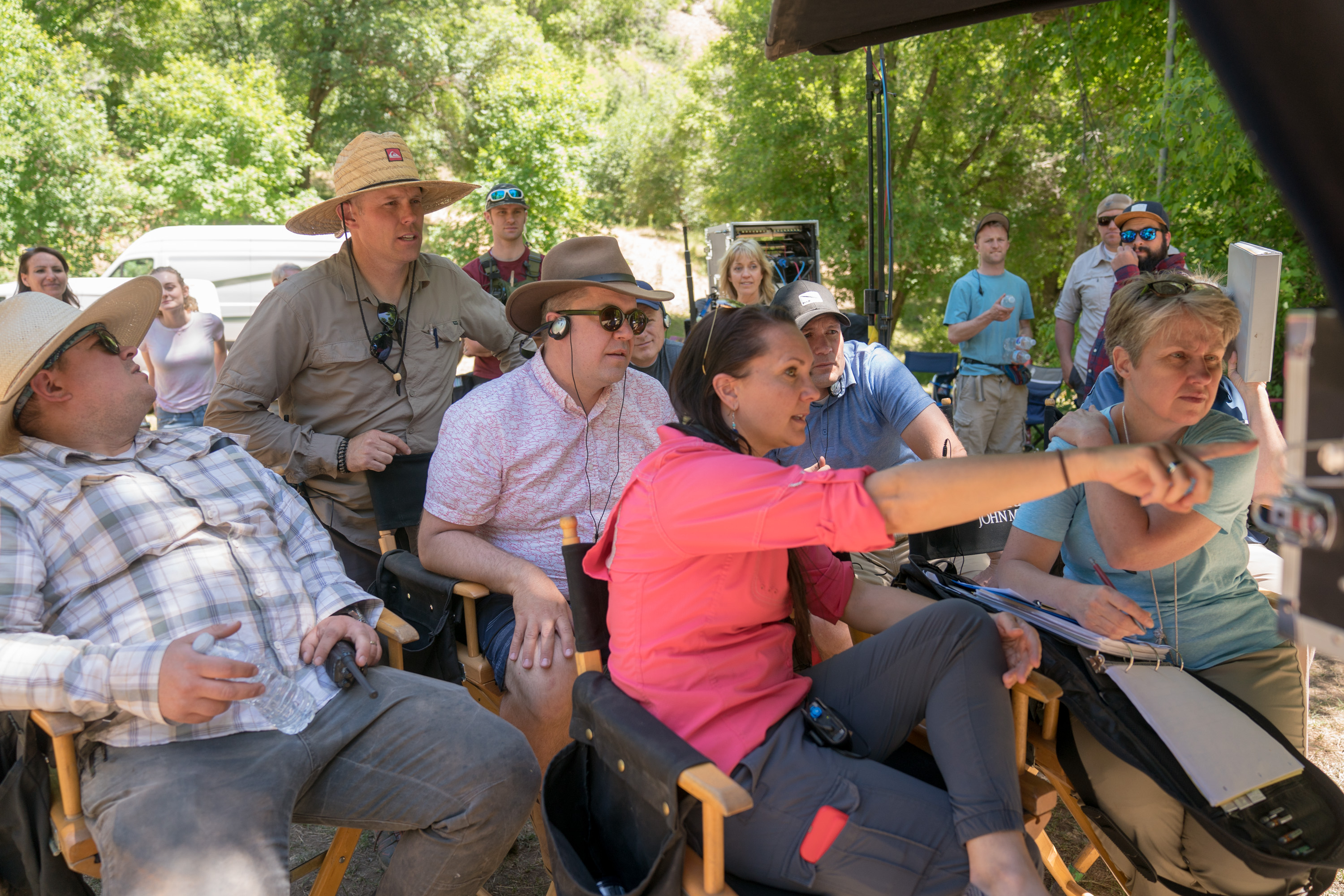 A behind-the-scenes look at the crew during the shooting of a scene taken from the early pages of the Book of Mormon during shooting of the second season of the Book of Mormon Video Library project on set near Springville, Utah, June 2018.