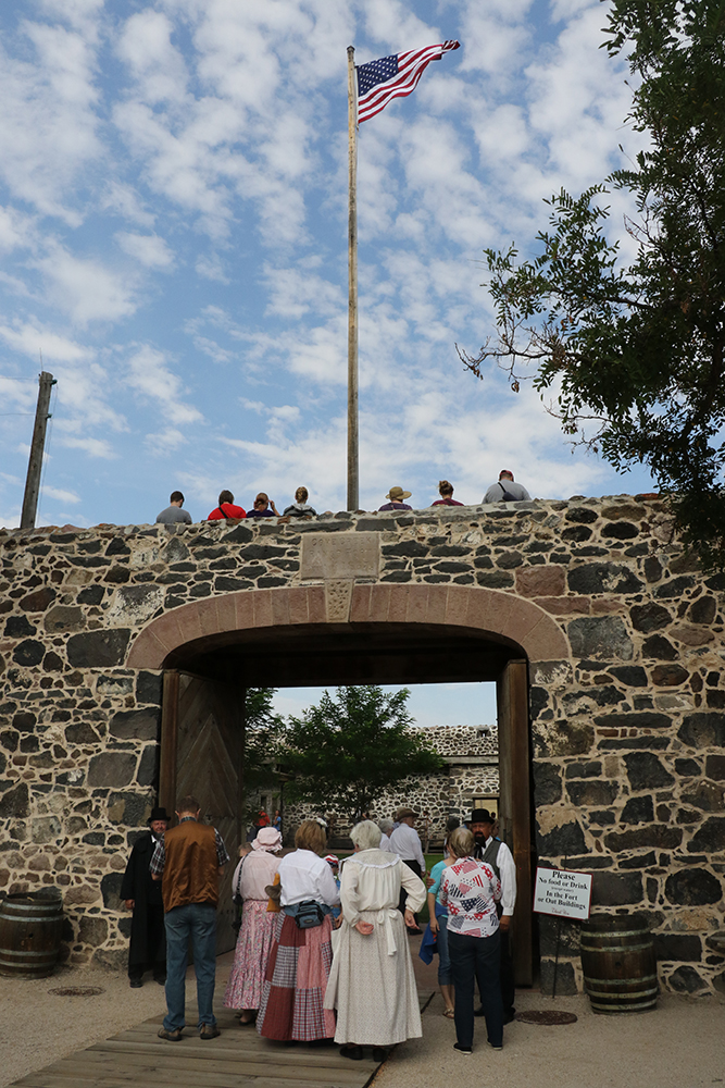 Visitors gather at Cove Fort for the annual Cove Fort Days held Aug. 4, 2017. The celebration honors Ira and Adelaide Hinckley, who lived in the fort with their family for many years. This year marks the 150th anniversary of the fort, located in Millard County, Utah.