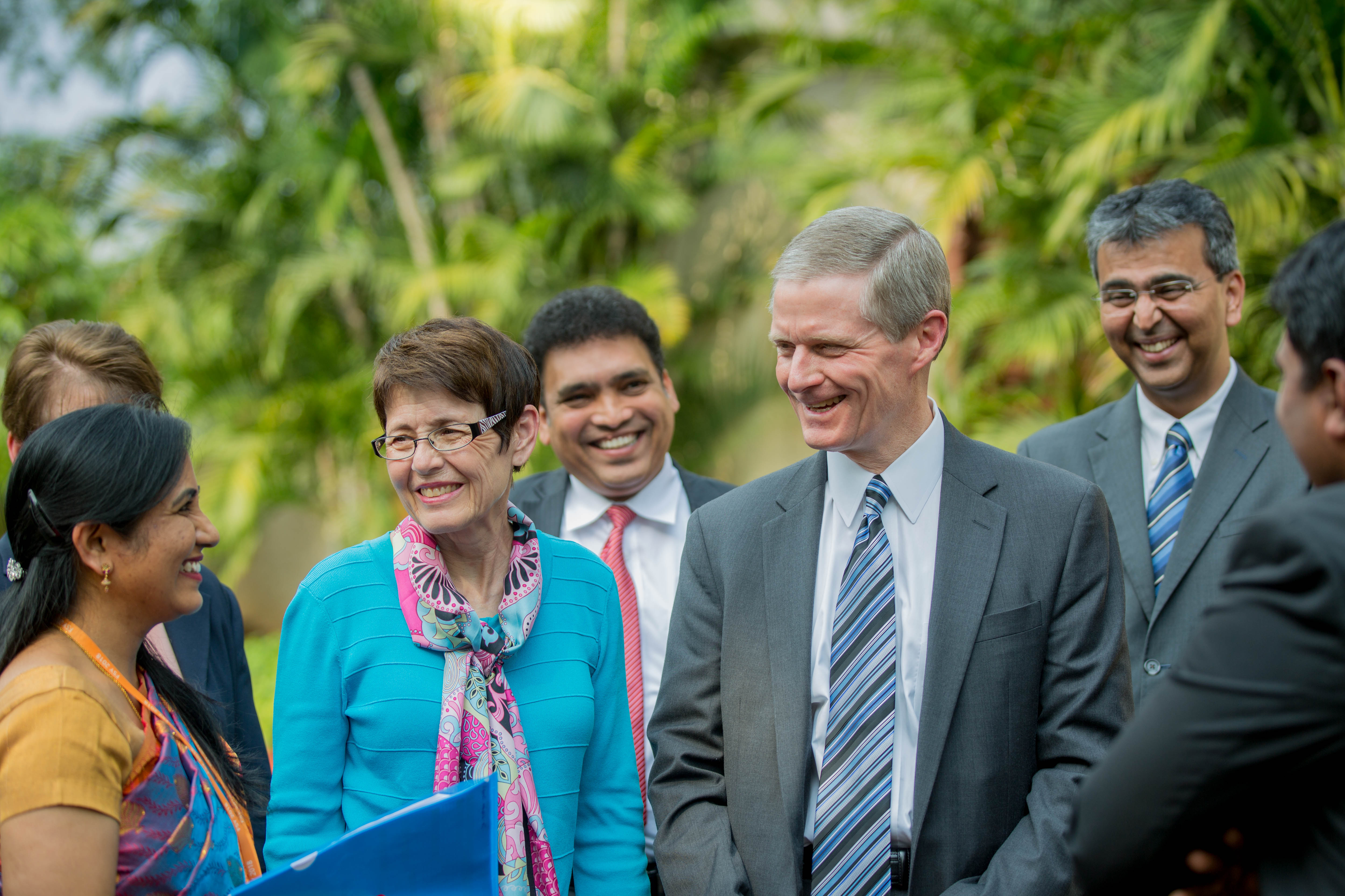 Elder David A. Bednar of the Quorum of the Twelve Apostles and his wife, Sister Susan R. Bednar, meet with members in India.