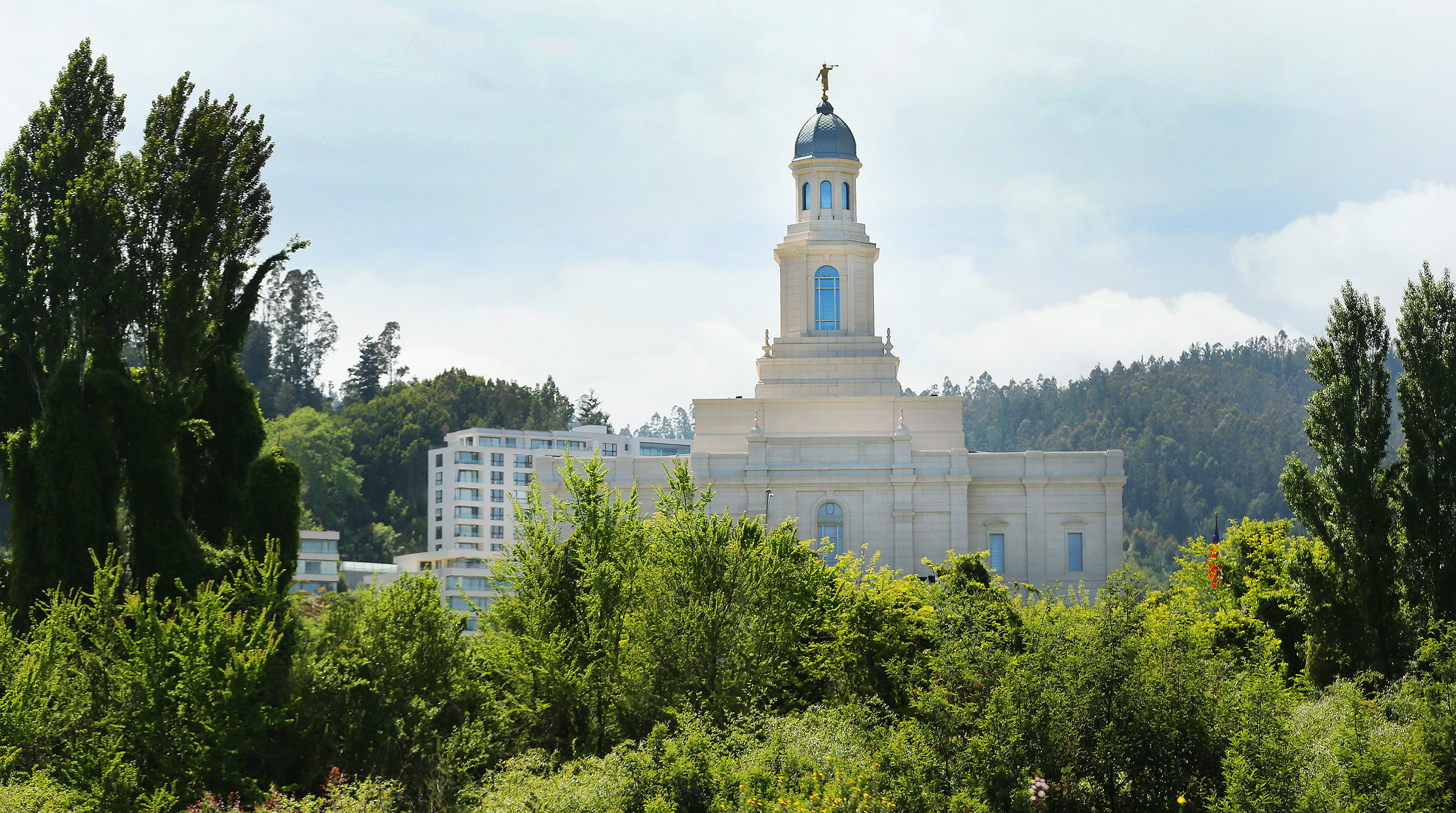The Concepcion Chile Temple, photographed here the day before its dedication on Sunday, Oct. 28, 2018.