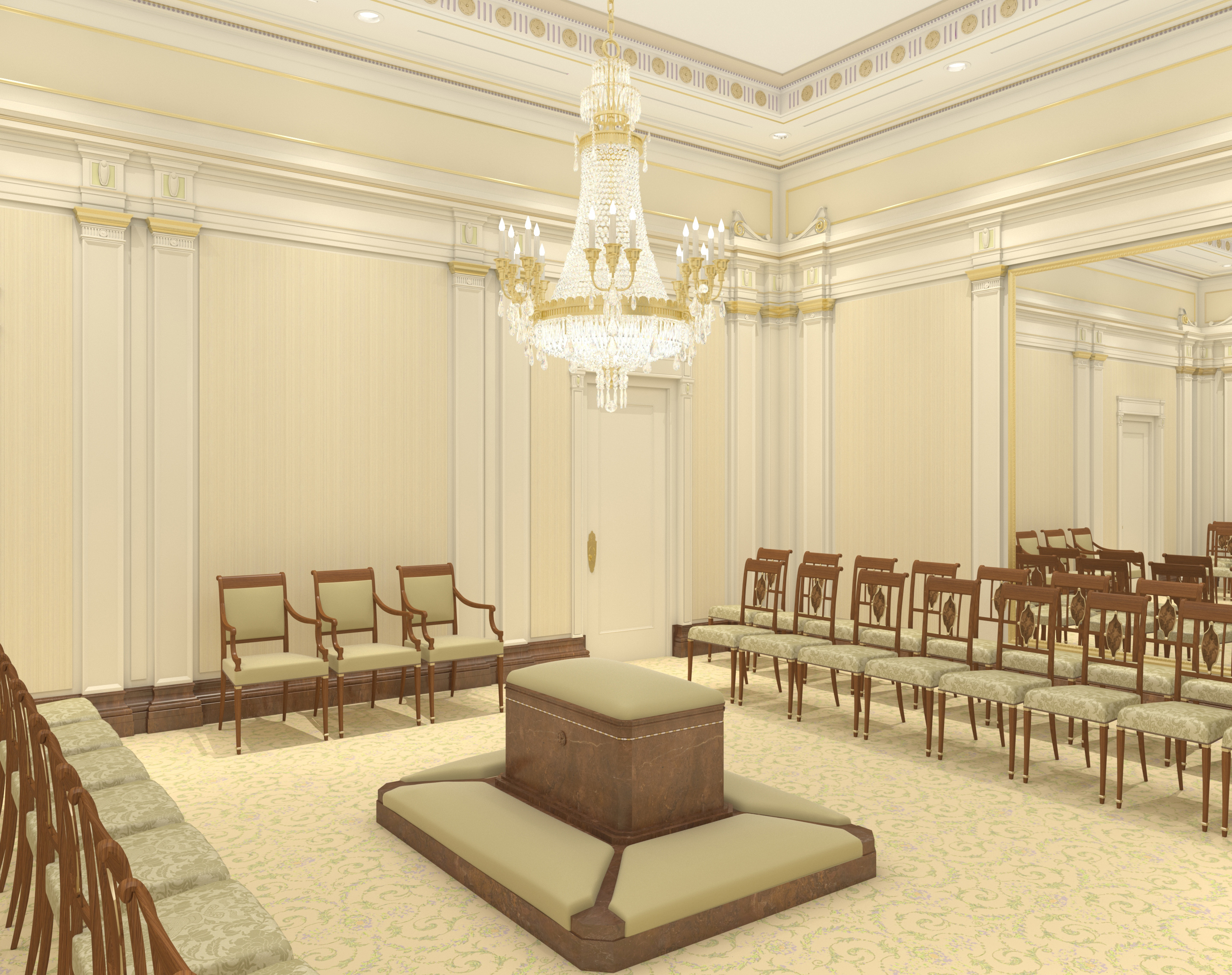 Rendering of a sealing room in the Mesa Arizona Temple.