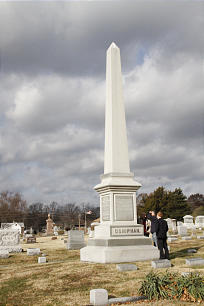 At cemetery in Liberty is grave marker for Alexander W. Doniphan, heroic defender of Joseph Smith and the Mormons.