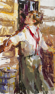 """""""My Arms Flew Up"""" by Julie Rogers depicts 12-year-old Willard Smith being miraculously prevented from entering blacksmith shop where he almost certainly would have perished during massacre."""