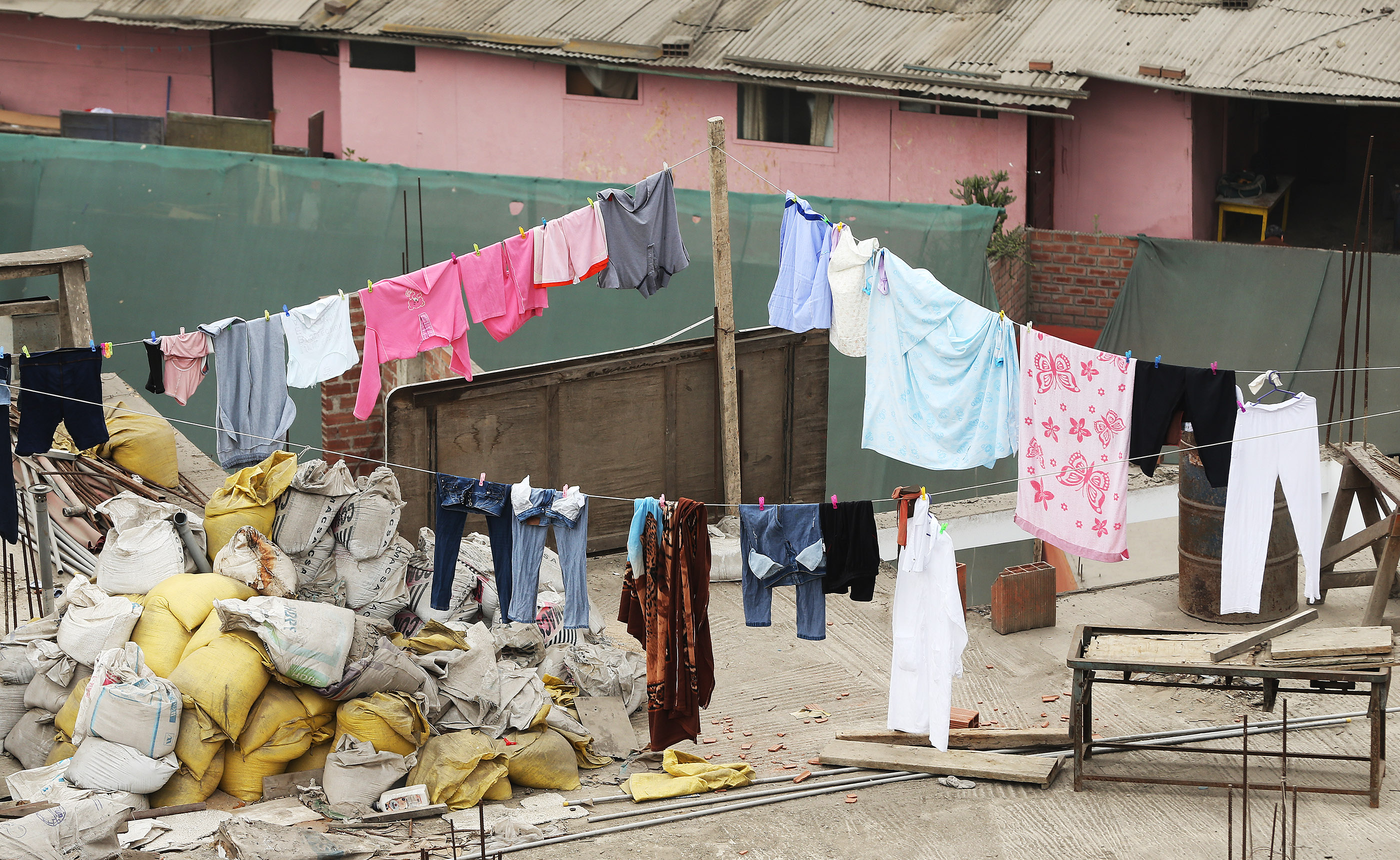 Laundry is hung in Lima, Peru, on Friday, Oct. 19, 2018.