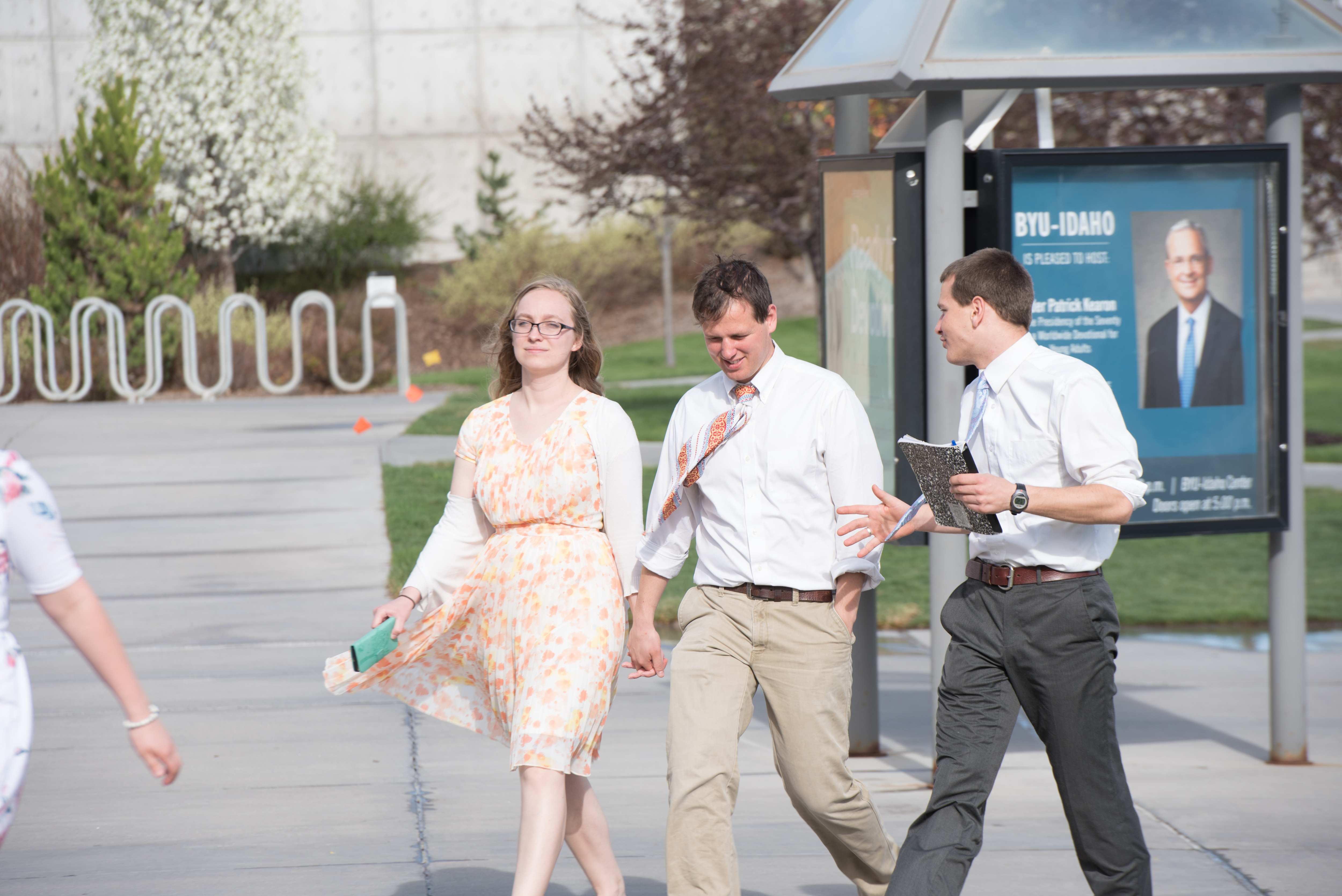 Young adults walk to the BYU-Idaho Center in Rexburg, Idaho, to attend the Worldwide Devotional for Young Adults on May 6, 2018.
