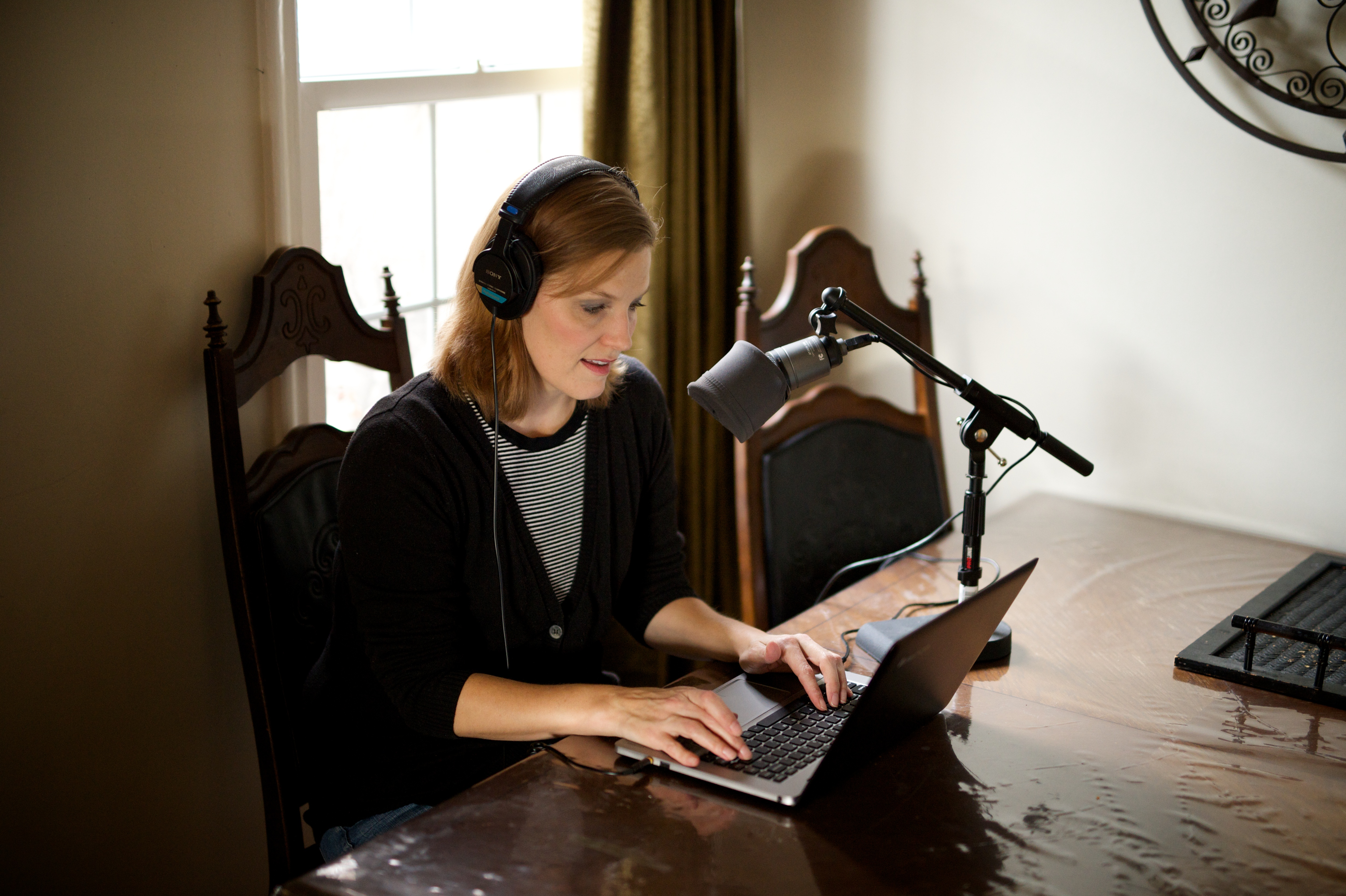 Audio recordings of scripture translations for the Church used to be done in a professional studio. They can now be done at the homes of individual voice talents commissioned by the Church.