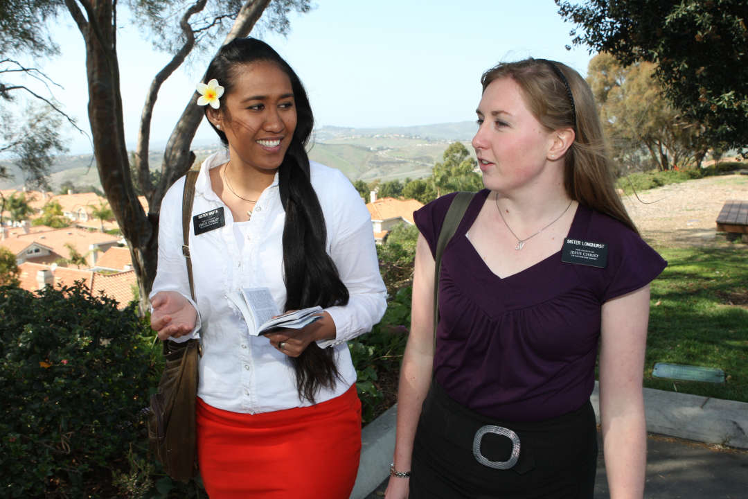 Missionaries from the California Carlsbad Mission.