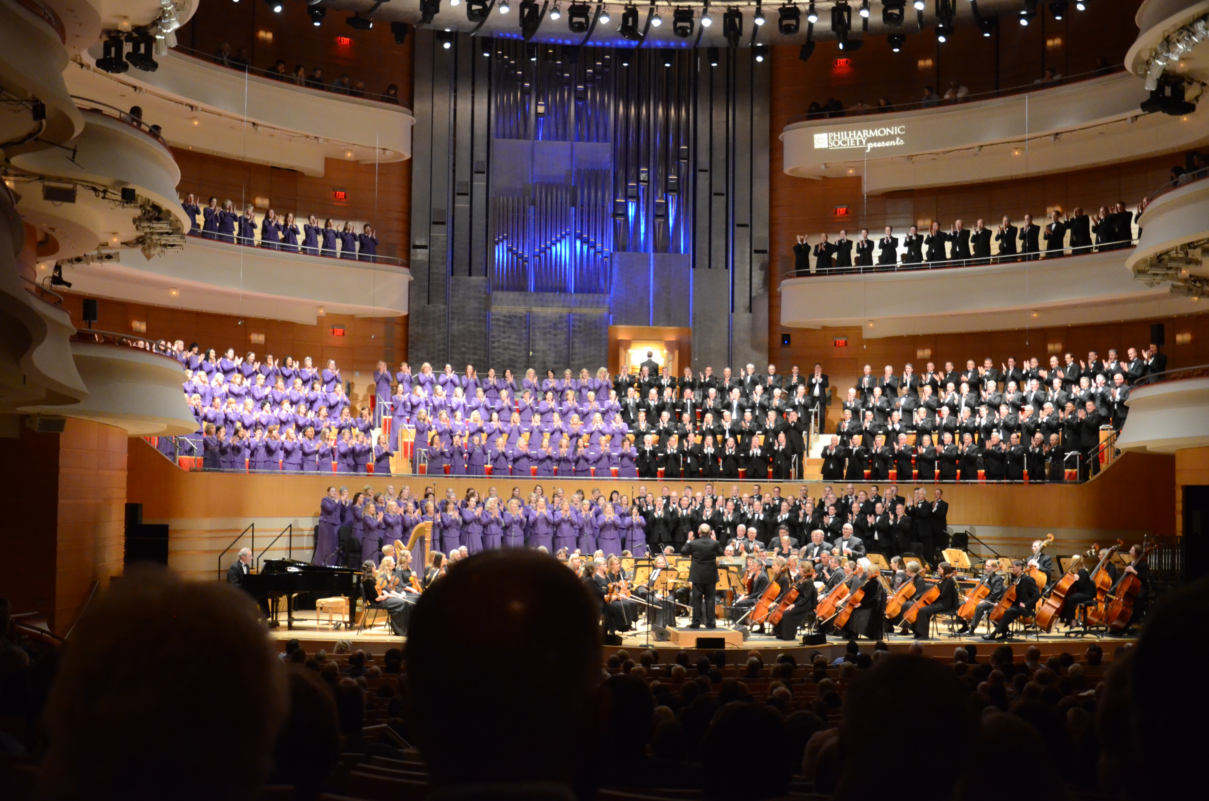 The Mormon Tabernacle Choir and Orchestra at Temple Square kicked off their 2018 tour on June 19, 2018, at the Renee and Henry Segerstrom Concert Hall in Costa Mesa, California.