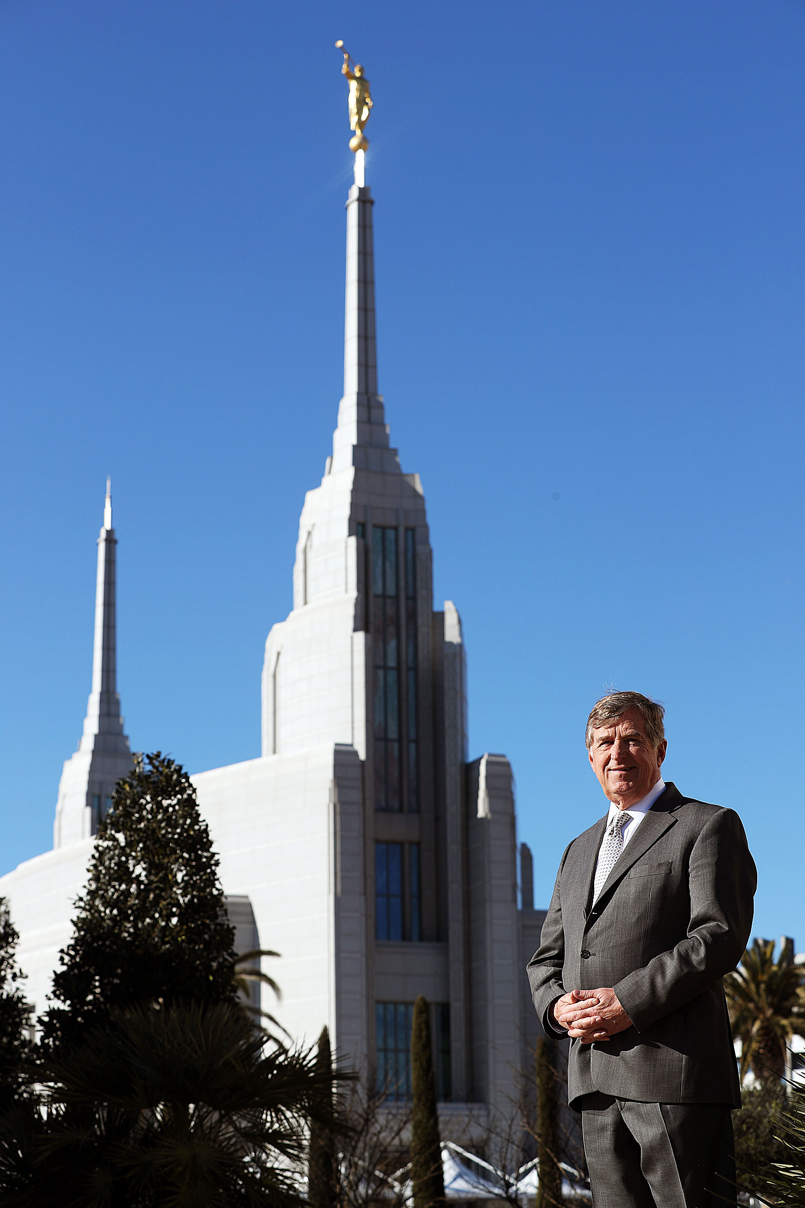 Niels Valentiner, architect of the Rome Italy Temple of The Church of Jesus Christ of Latter-day Saints, poses for a photo on Tuesday, Jan. 15, 2019.
