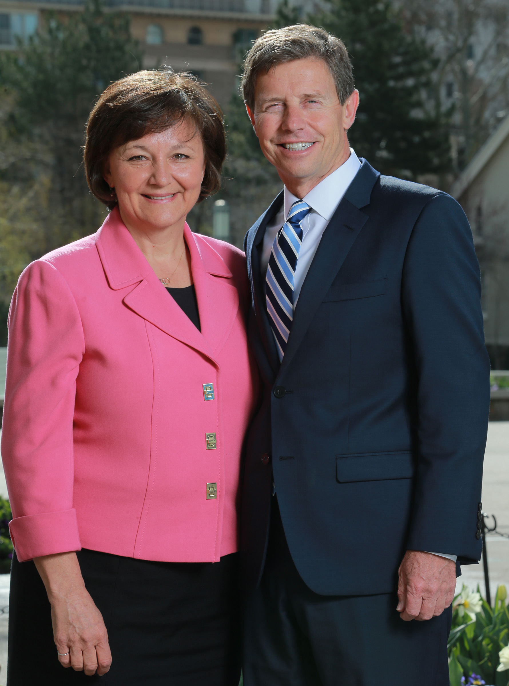 Elder S. Mark Palmer with his wife, Jacqueline Ann Wood.