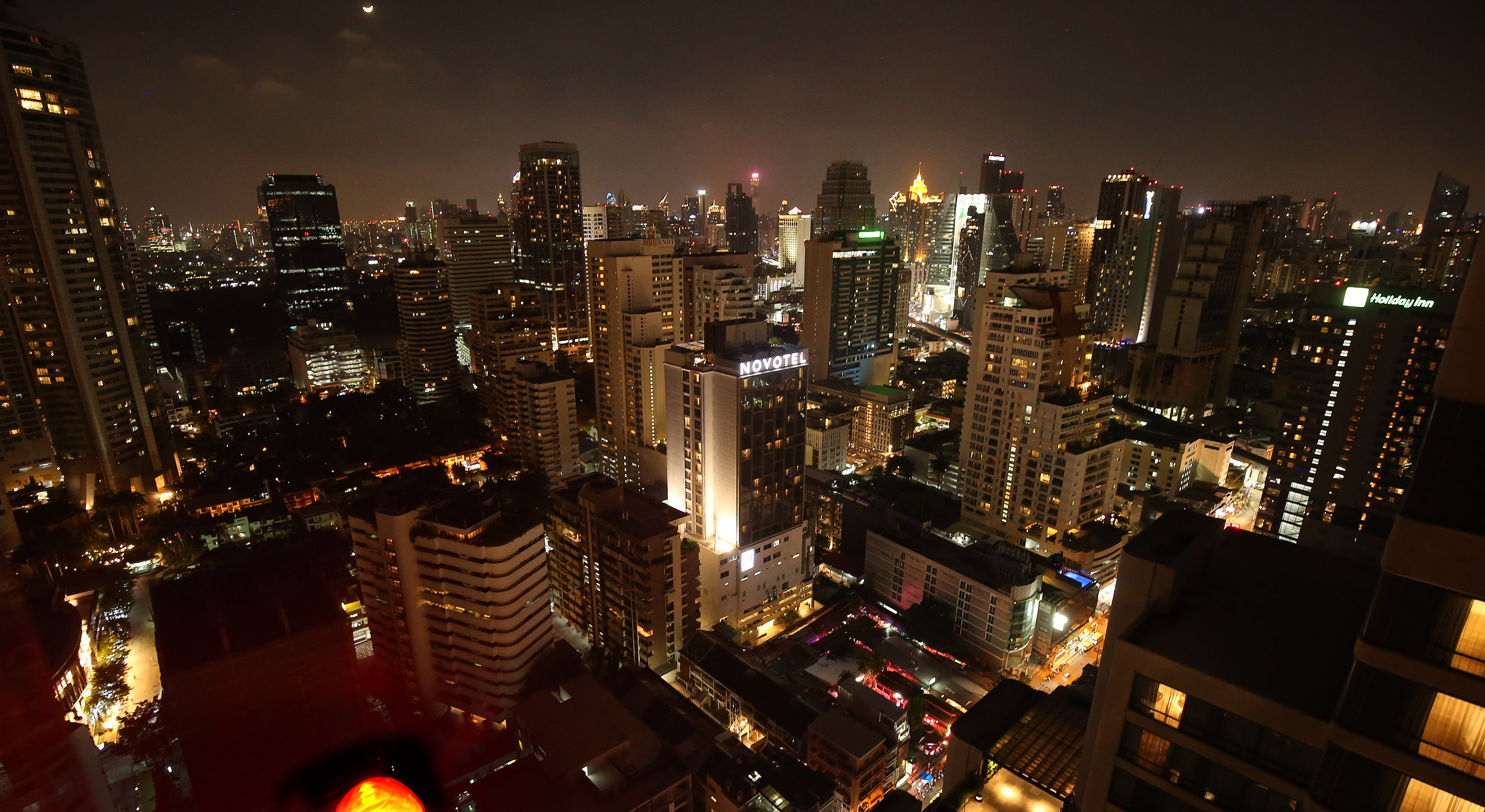 The night time skyline in Bangkok, Thailand, on Friday, April 20, 2018.