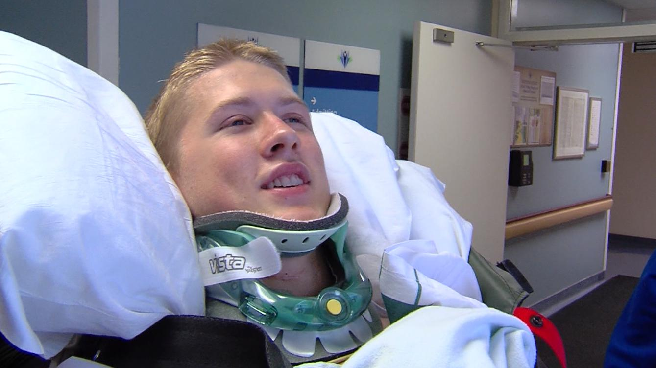 On Aug. 29, 2016, Josh Hinton was attending BYU freshman orientation. He ran through a bounce house obstacle course and hit his head in an inflatable post. He had broken his neck.