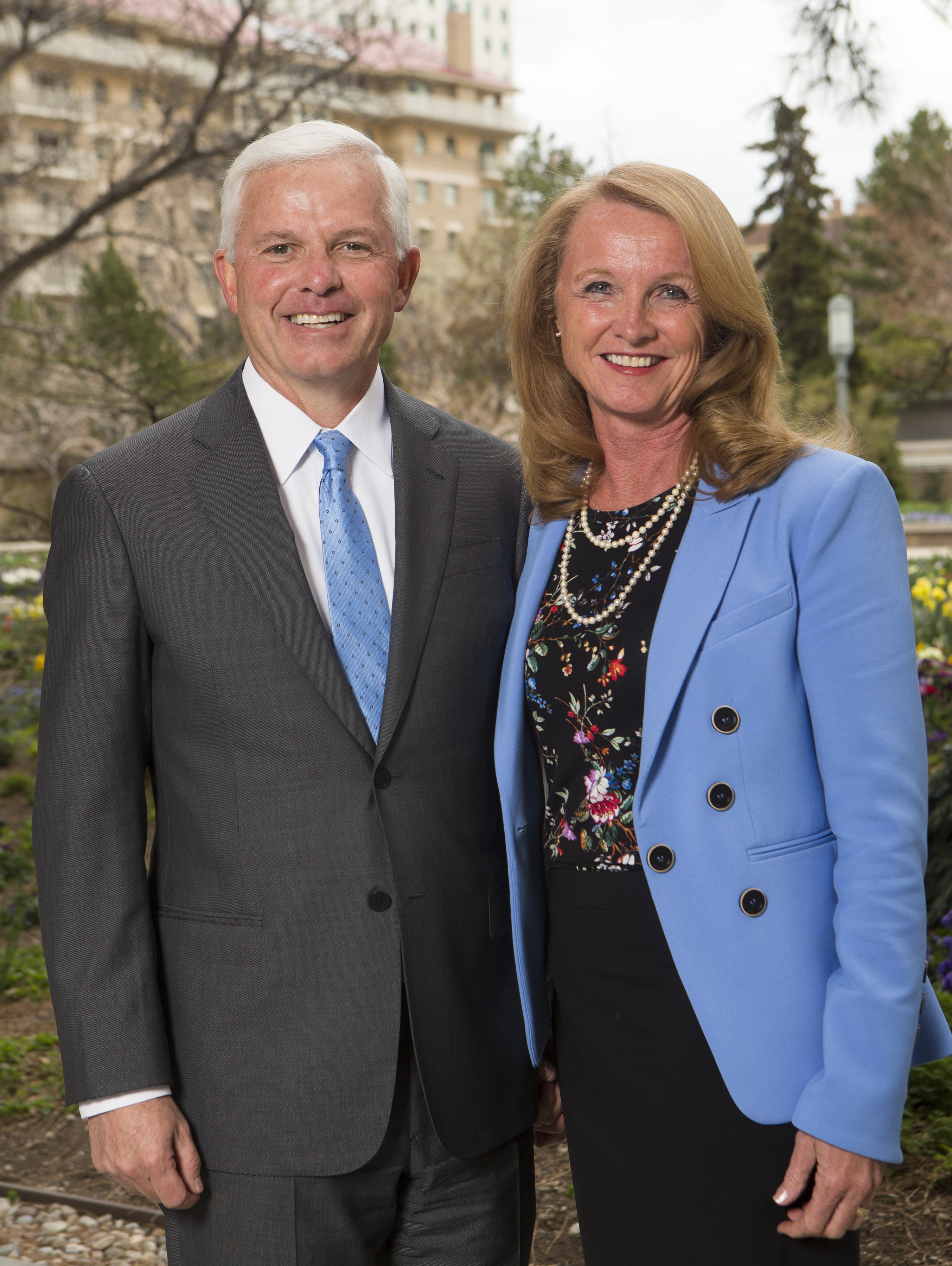 Elder Matthew L. Carpenter, General Authority Seventy, and his wife, Sister Shelly B. Carpenter, in Salt Lake City on Monday, April 2, 2018.