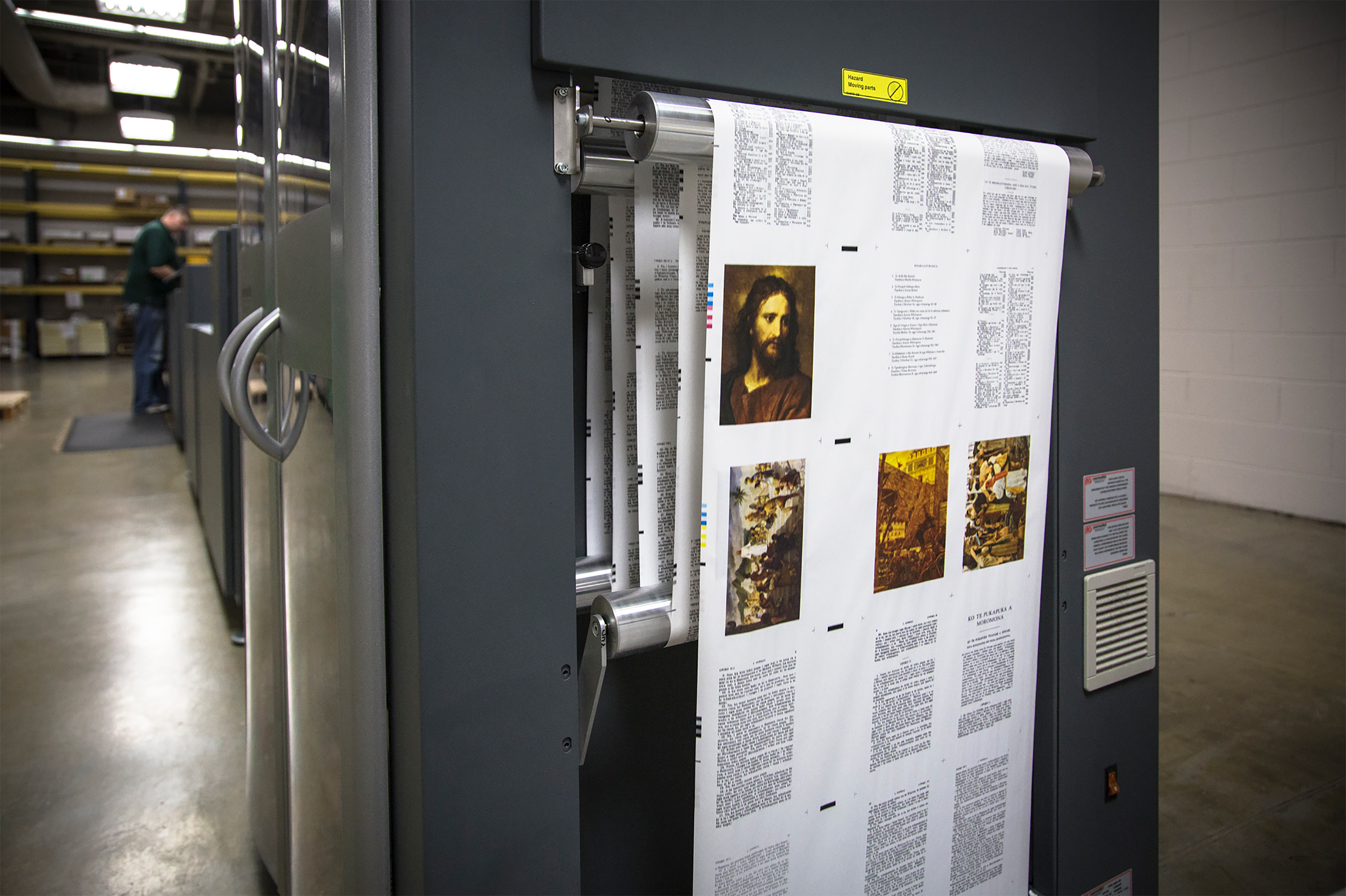 Savings created by the new printer purchased by the Church in 2013 allows translations of scriptures to be printed in more languages at lower costs.
