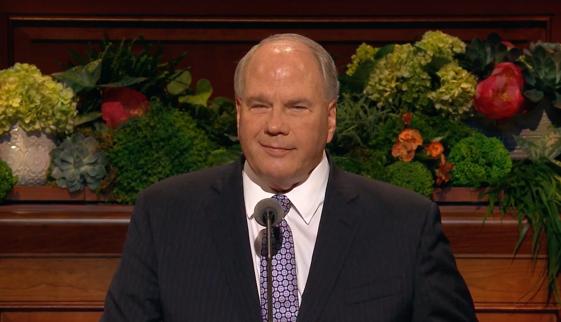 Elder Ronald A. Rasband of the Quorum of the Twelve Apostles gives his address during the Sunday afternoon session of the 189th Annual General Conference on April 7, 2019.