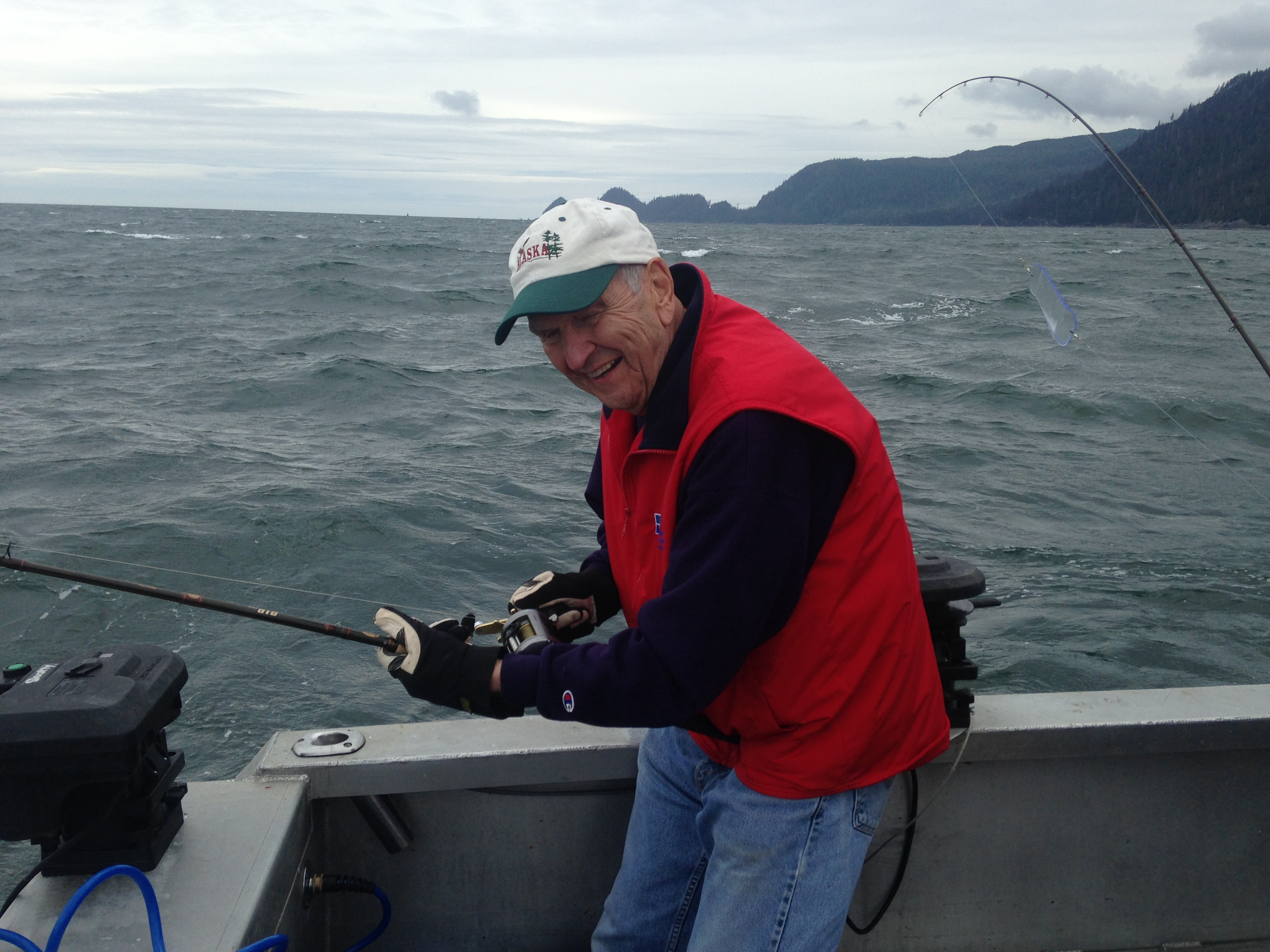 President Russell M. Nelson salmon fishing in Ketchikan, Alaska, in July 2016.