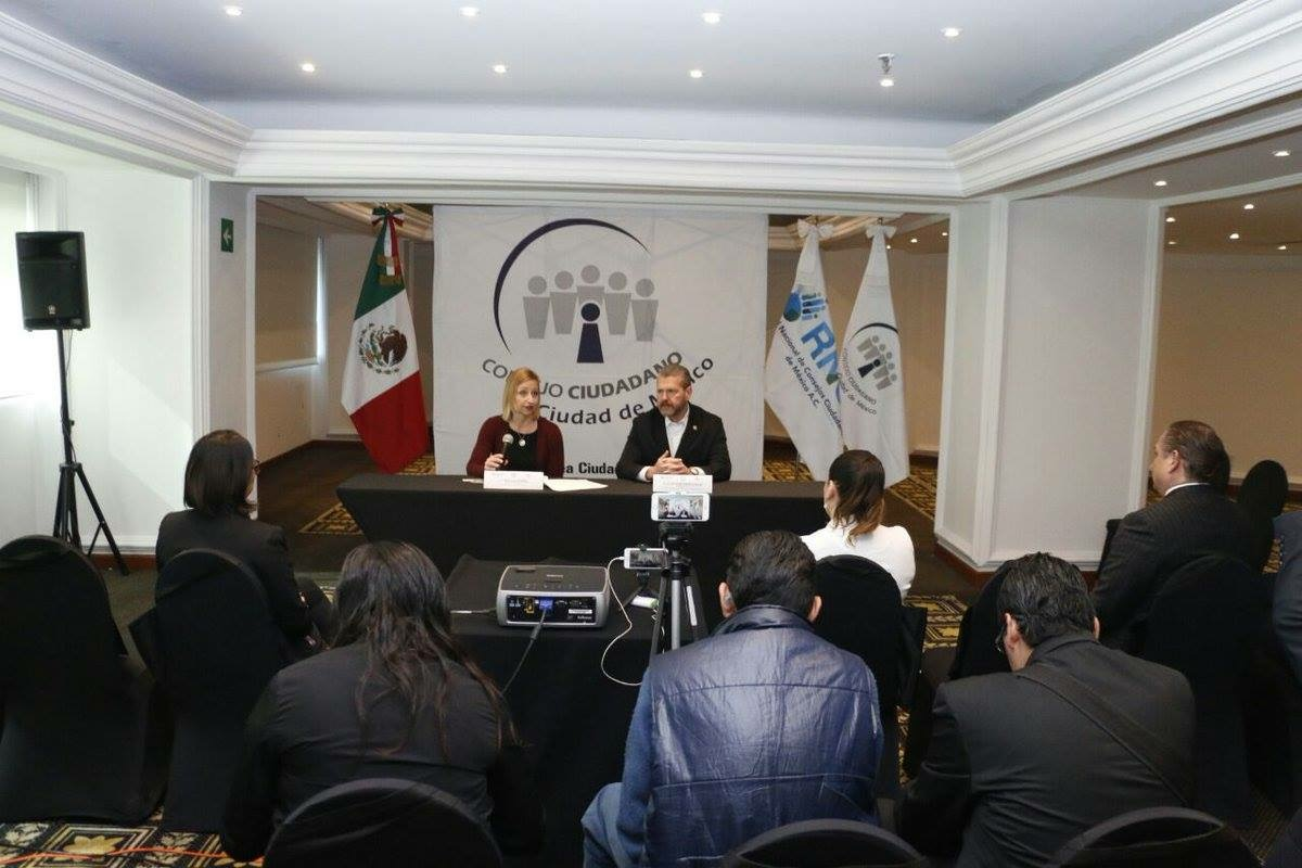 Truckers Against Trafficking deputy director Kylla Lanier attends a press conference in Mexico discussing the organization's partner in the country, Guardianes del Asfalto. Students from BYU did research for the group to learn more about Mexico's trucking industry.