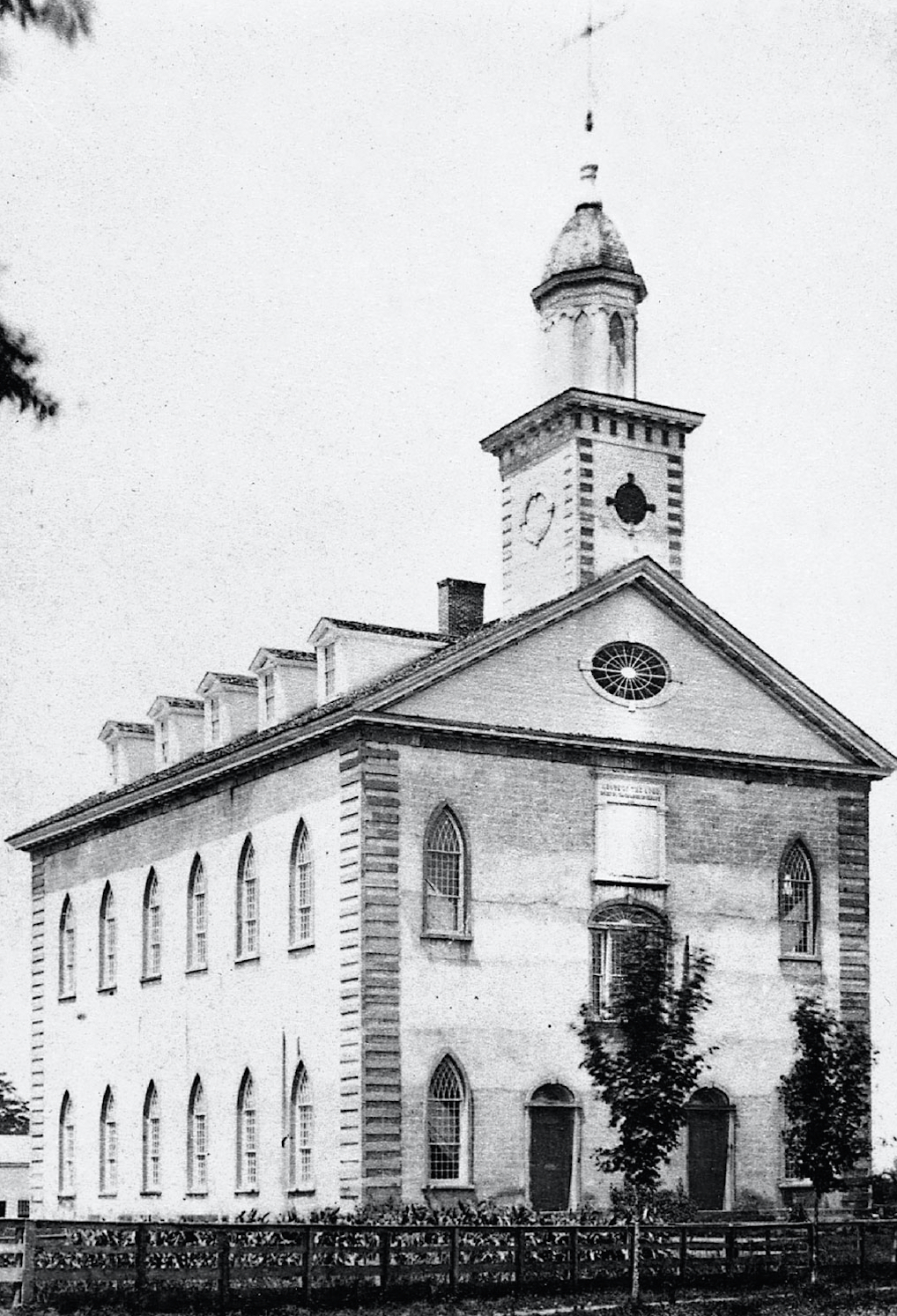 A photo of the Kirtland Temple circa 1875. It was dedicated on March 27, 1836 after three years of construction.
