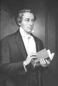 Joseph Smith as portrayed in a painting by Edward T. Grigware.