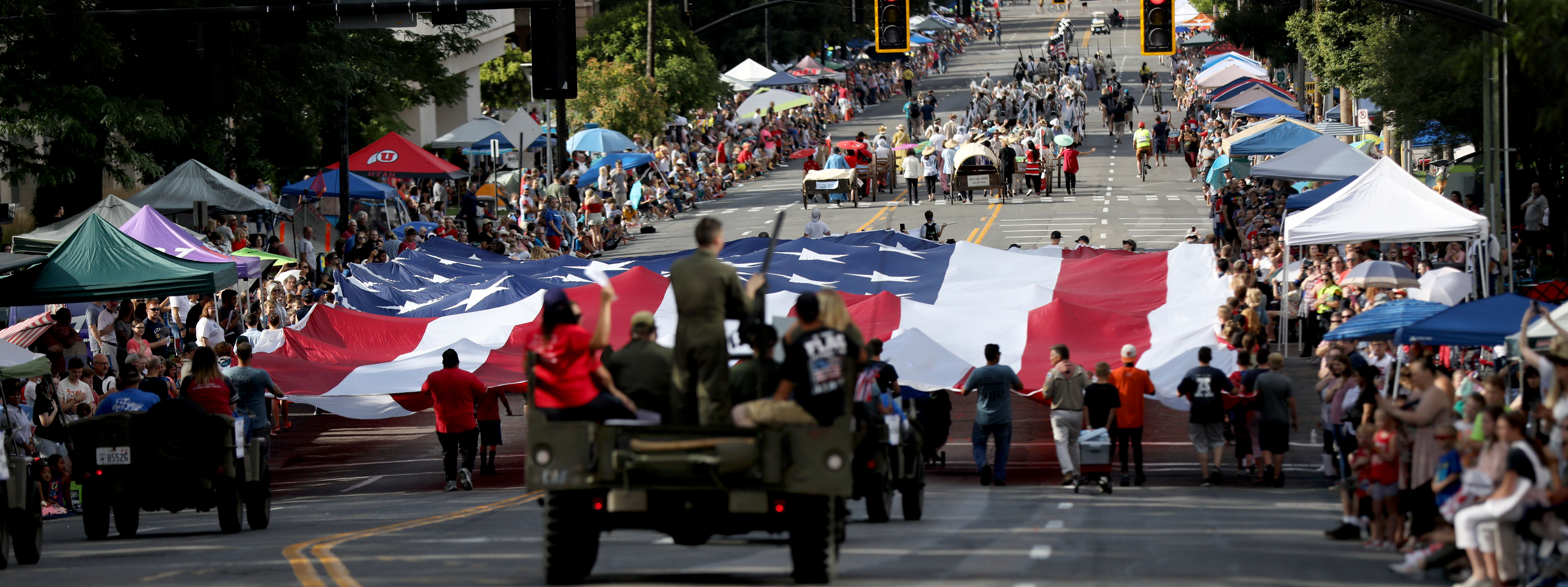 The Days of '47 Parade heads down 200 East in Salt Lake City on Wednesday, July 24, 2019.