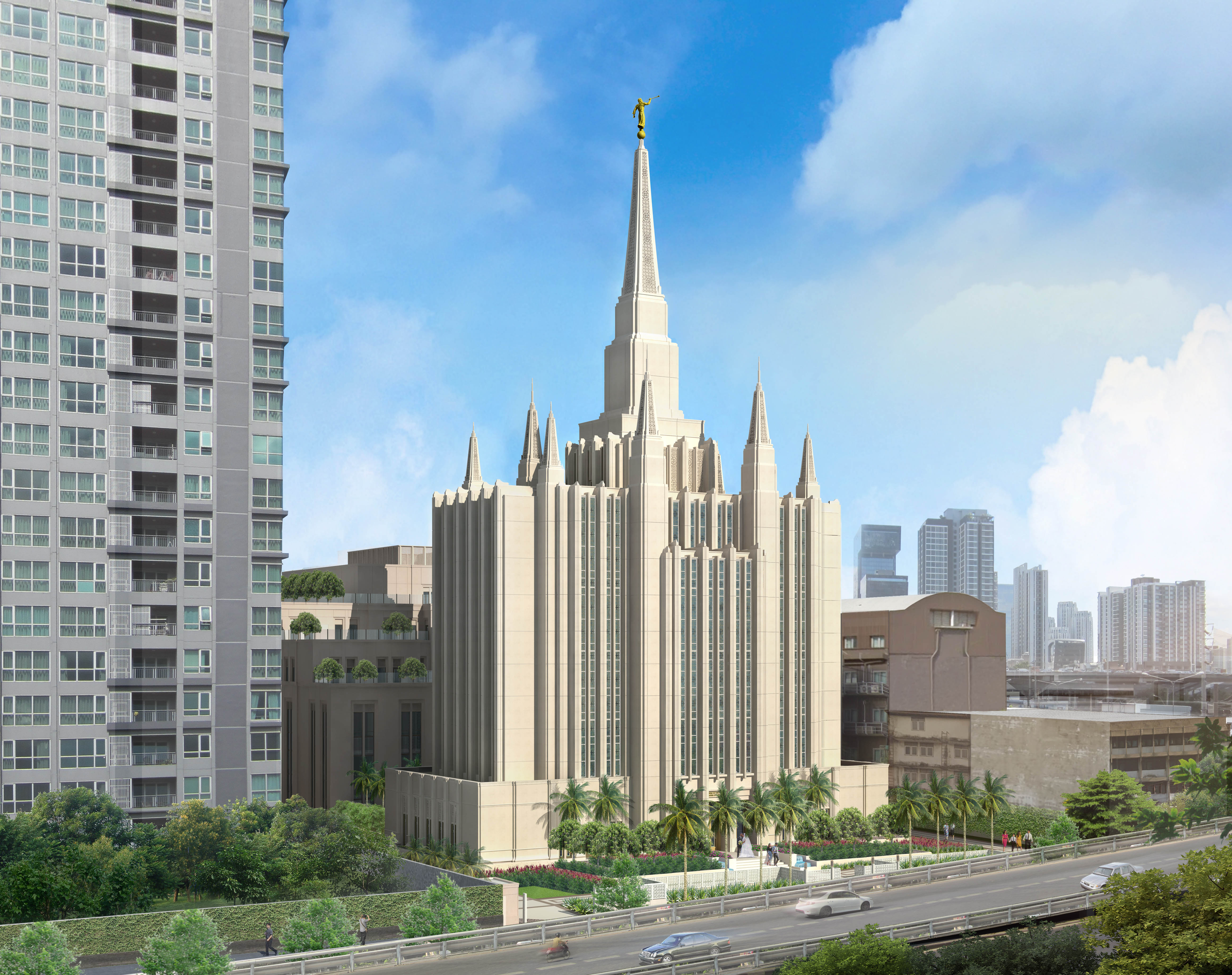Rendering of the Bangkok Thailand Temple