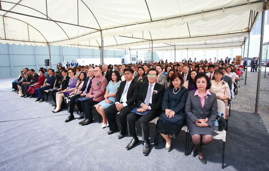 More than 700 members and friends attend the groundbreaking ceremony for the Bangkok Thailand Temple Jan. 26, 2019.