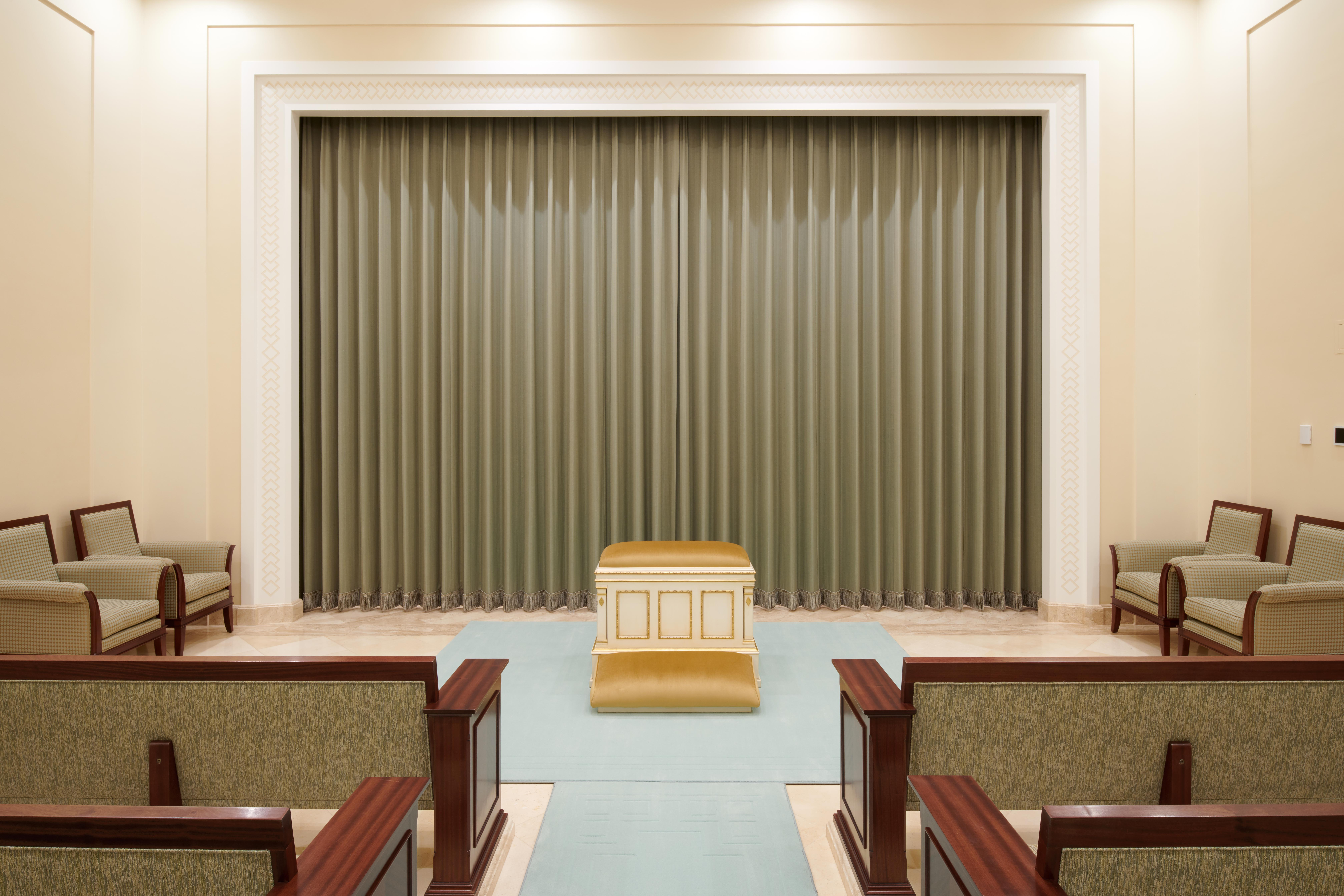 An instruction room in the Kinshasa Democratic Republic of the Congo Temple.