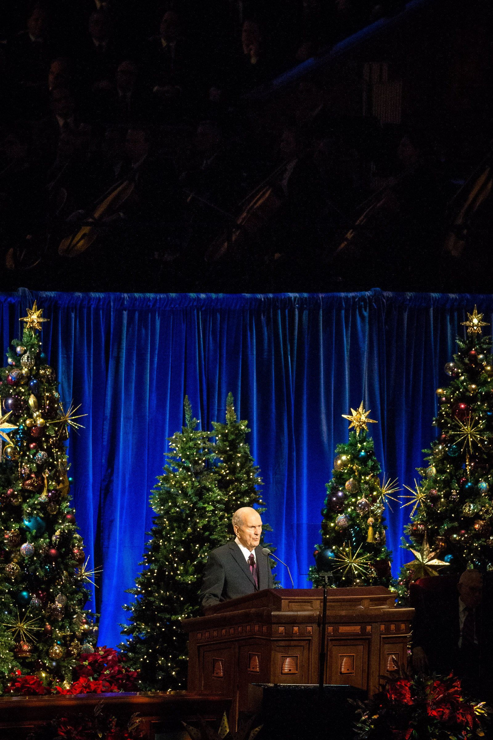 President Russell M. Nelson of The Church of Jesus Christ of Latter-day Saints speaks during the First Presidency's Christmas Devotional in the Conference Center in Salt Lake City on Sunday, Dec. 2, 2018.