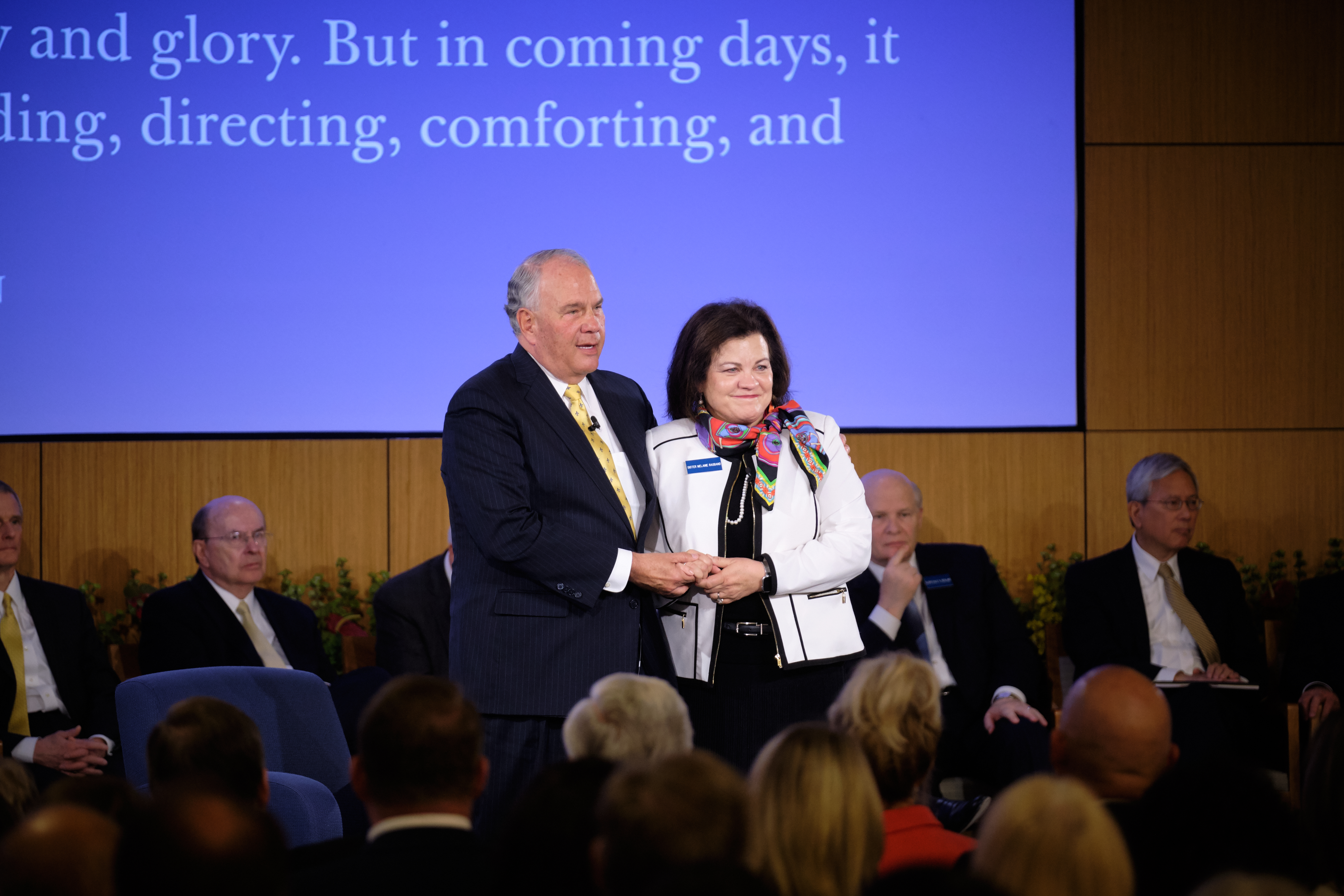 Elder Ronald A. Rasband and his wife, Sister Melanie Rasband, participate in the 2019 Mission Leadership Seminar on June 24, 2019.