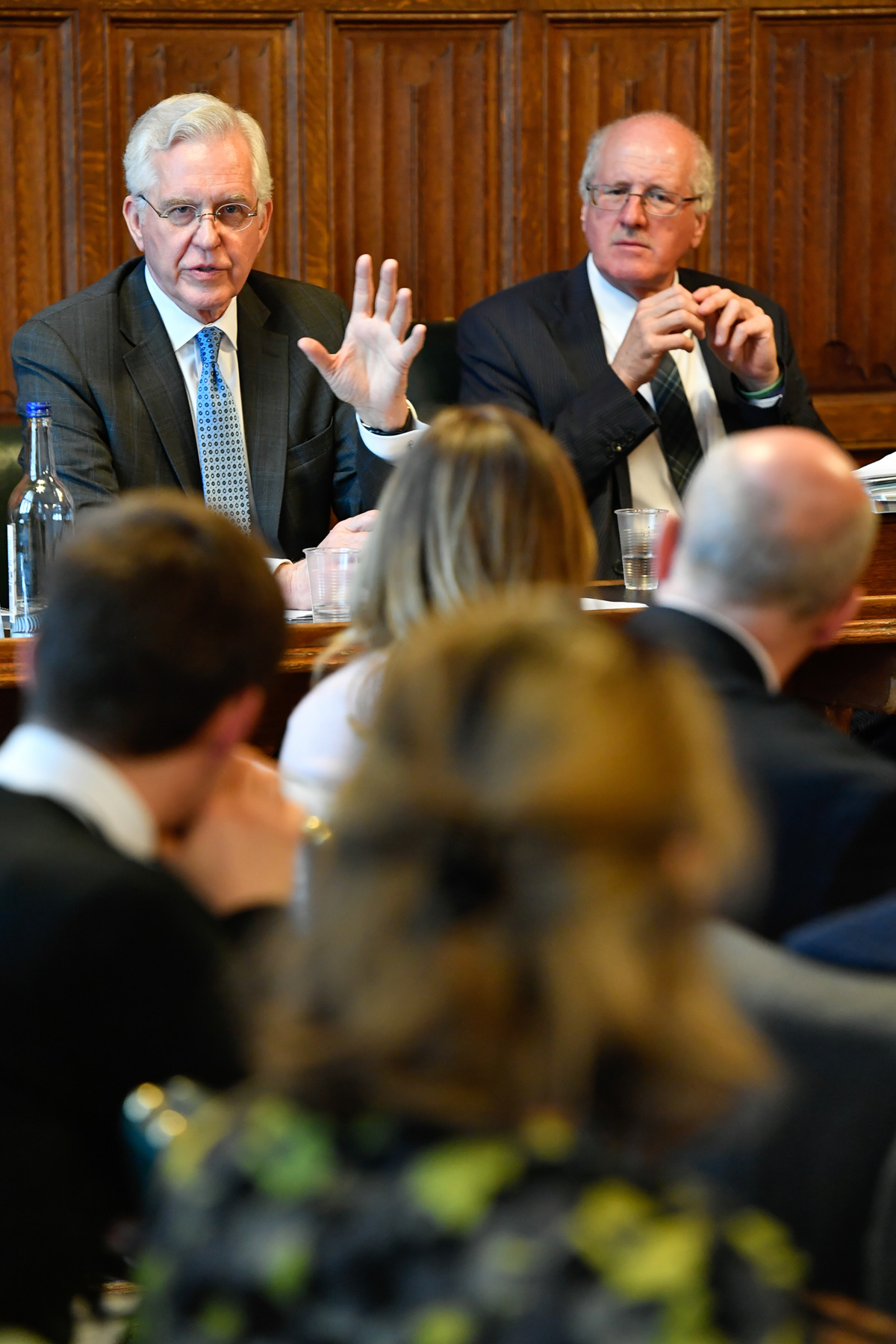 Elder D. Todd Christofferson of the Quorum of the Twelve Apostles speaks during the All-Party Parliamentary Group meeting held at the United Kingdom Parliament on May 1.