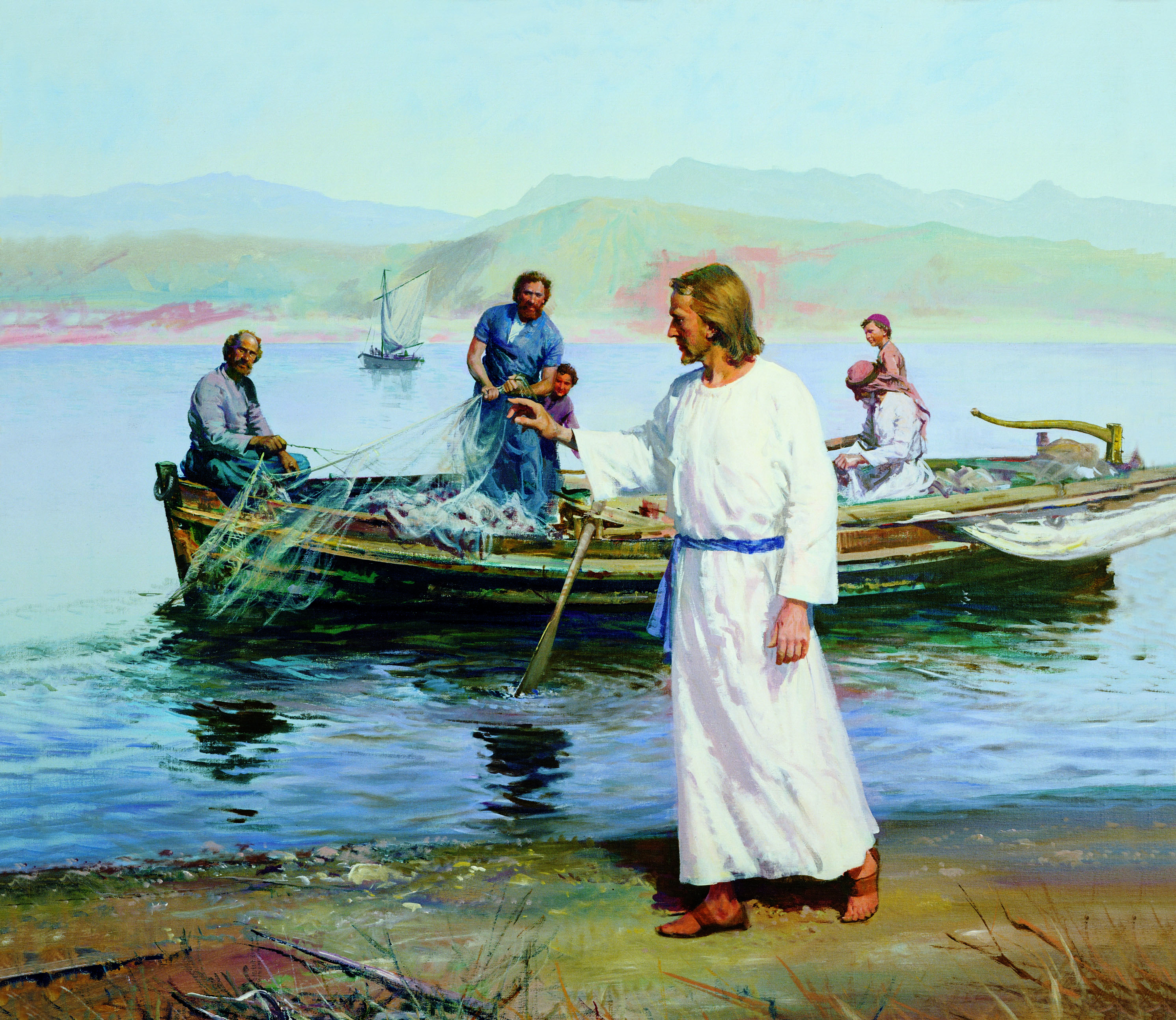 Come, follow me. Images of life of Christ and His miracles. Courtesy IRI