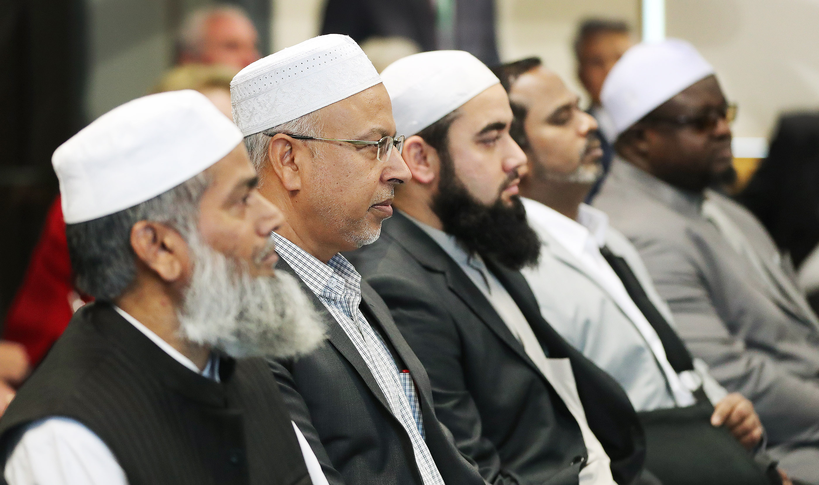 President Russell M. Nelson of The Church of Jesus Christ of Latter-day Saints meets with imams and a victim in Auckland, New Zealand, on May 21, 2019, from two mosques that were recently attacked. Two imams represented the Al Noor and Linwood mosques, where innocent worshippers were gunned down March 15 in Christchurch.