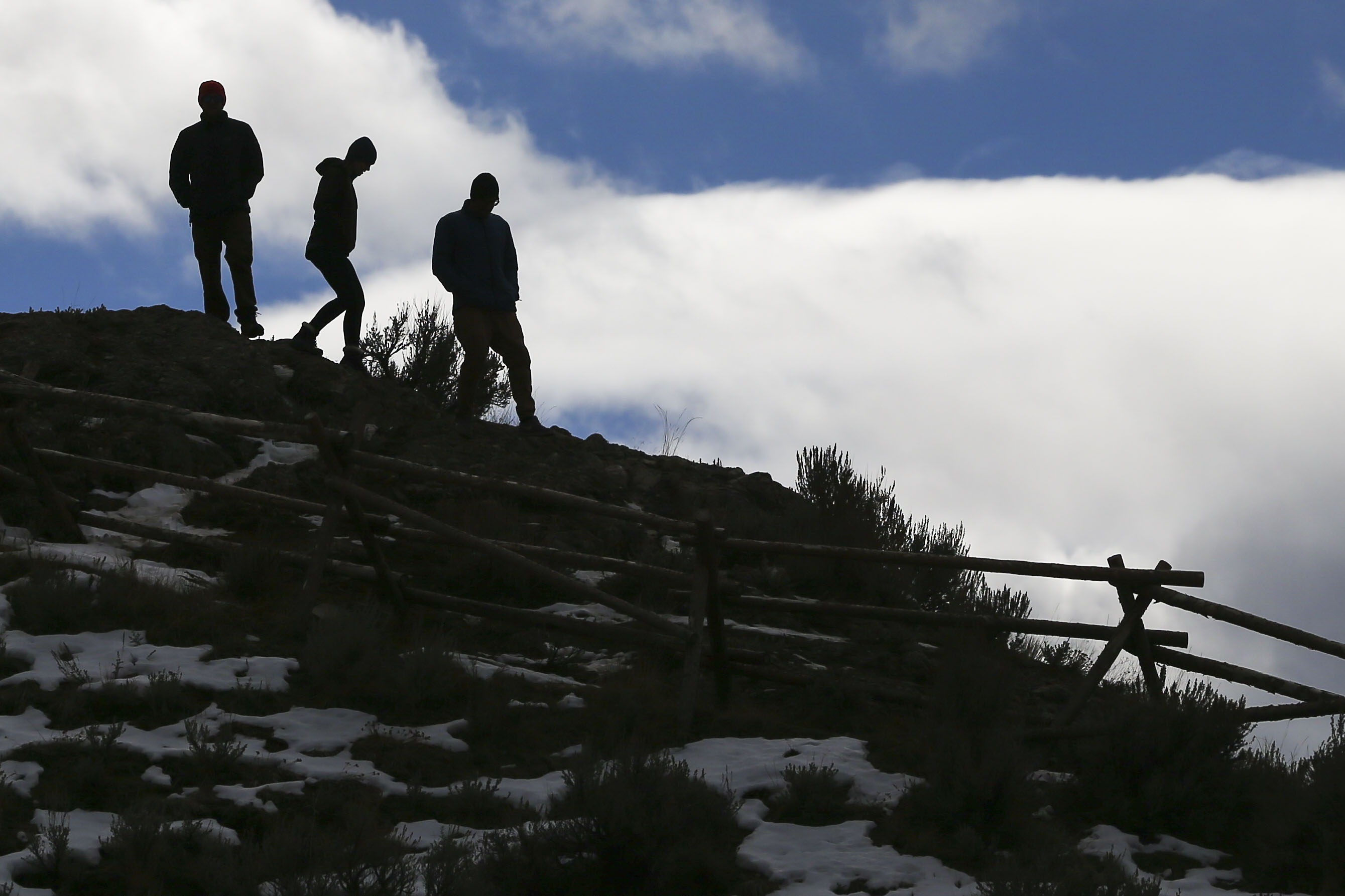 Hikers make their way down from Ensign Peak in Salt Lake City on Sunday, Feb. 3, 2019.
