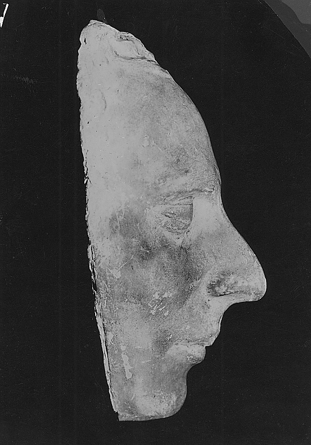 A side view of the Dibble death mask of Joseph Smith Jr.