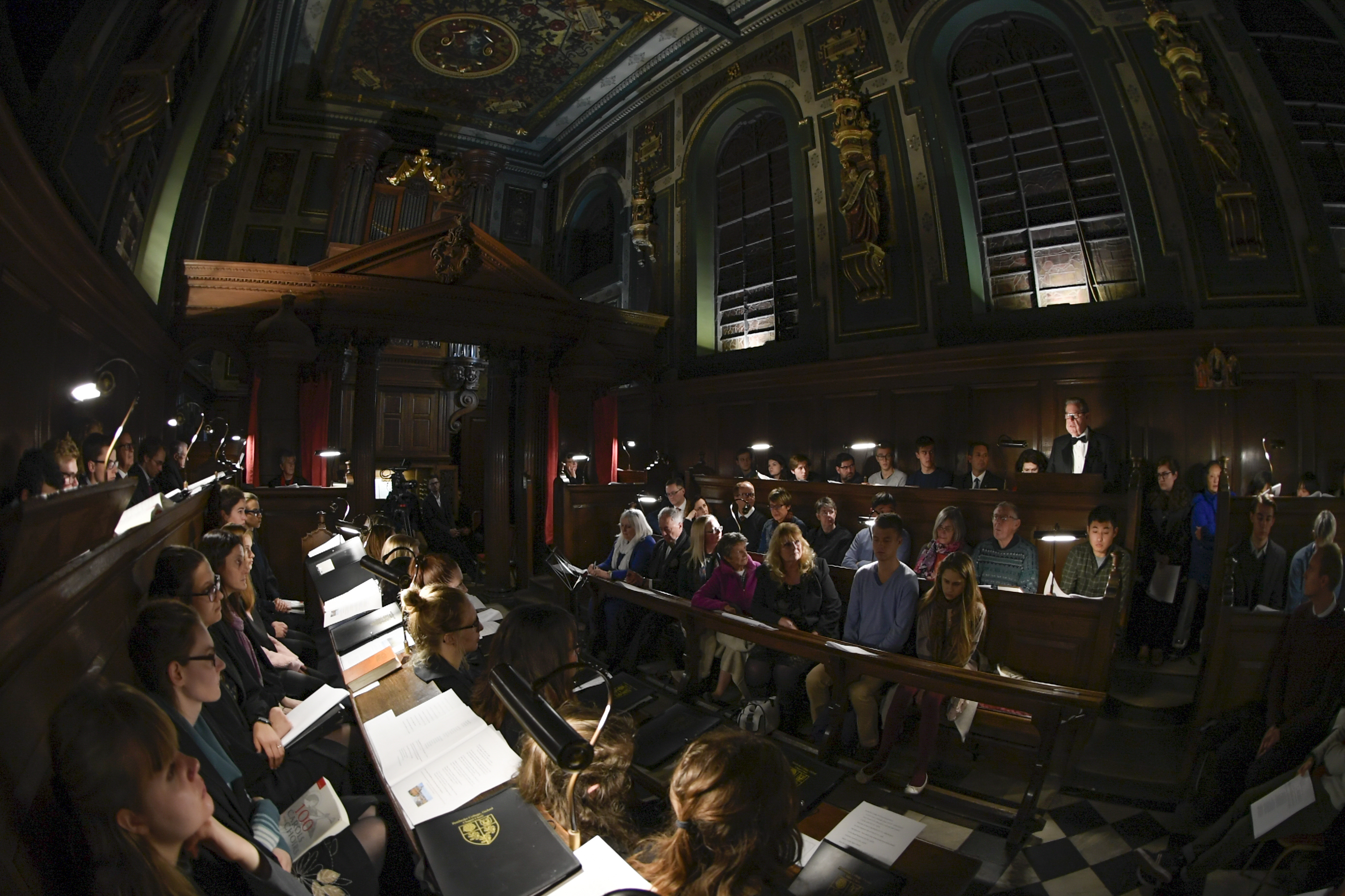 """Elder Jeffrey R. Holland of the Quorum of the Twelve Apostles speaks during the traditional Church of England """"Nine Lessons and Carols"""" service in the Pembroke College Chapel in Oxford, England, on Sunday, Nov. 25, 2018."""