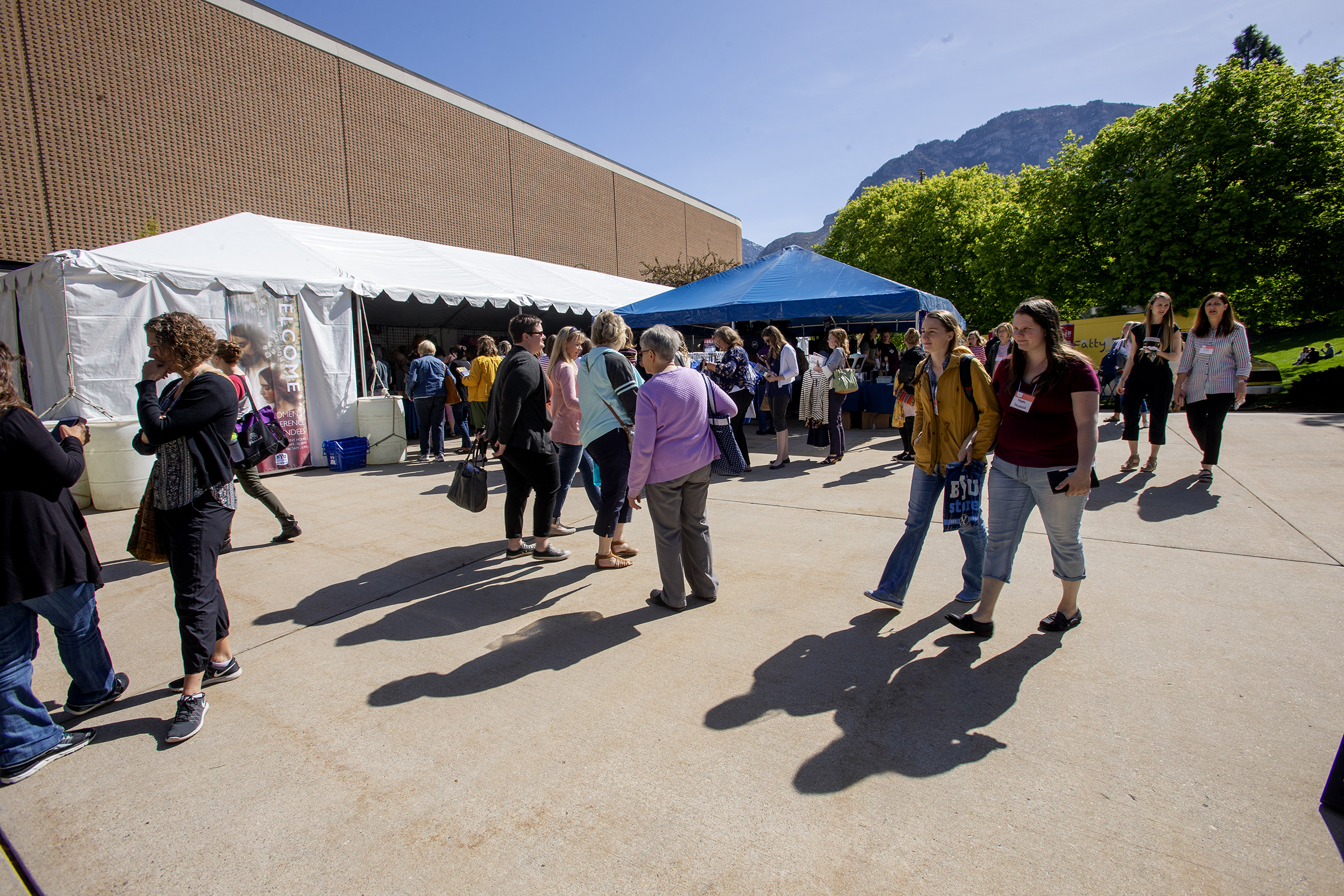 Women take part in Women's Conference at BYU in Provo, Utah, on Friday, May 3, 2019.