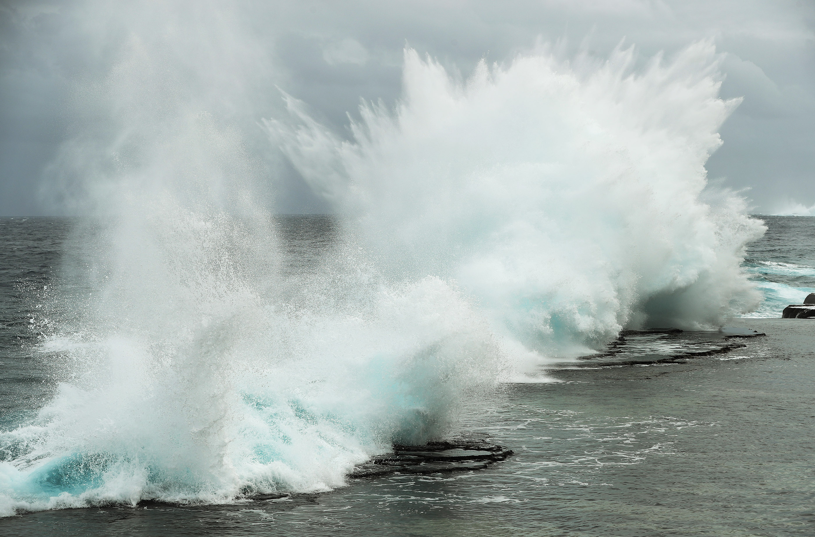 Mapu 'A Vaea blow holes in Tonga on May 23, 2019.