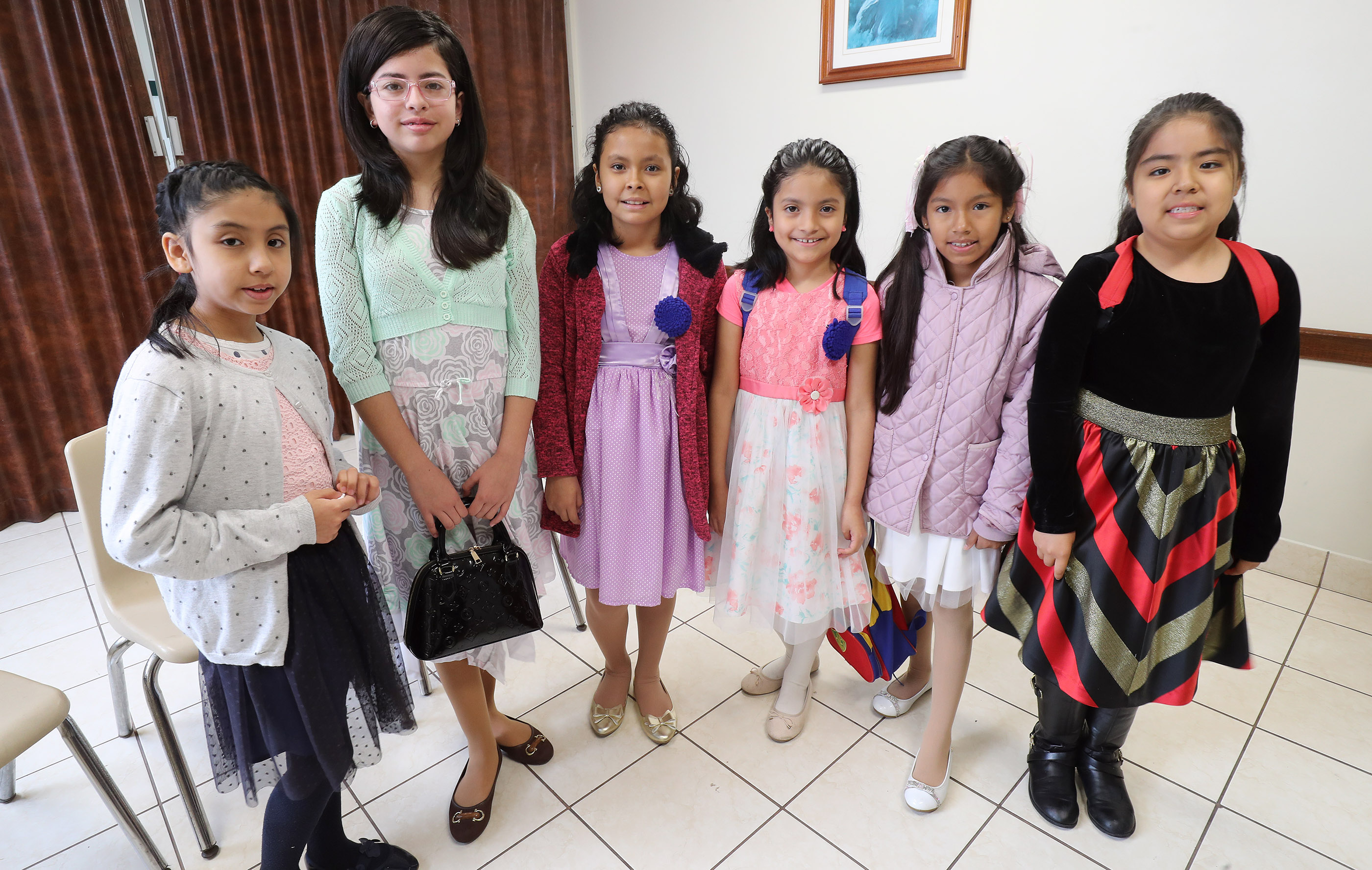 Primary children of The Church of Jesus Christ of Latter-day Saints pose for a photo prior to class in Lima, Peru, on Oct. 21, 2018.