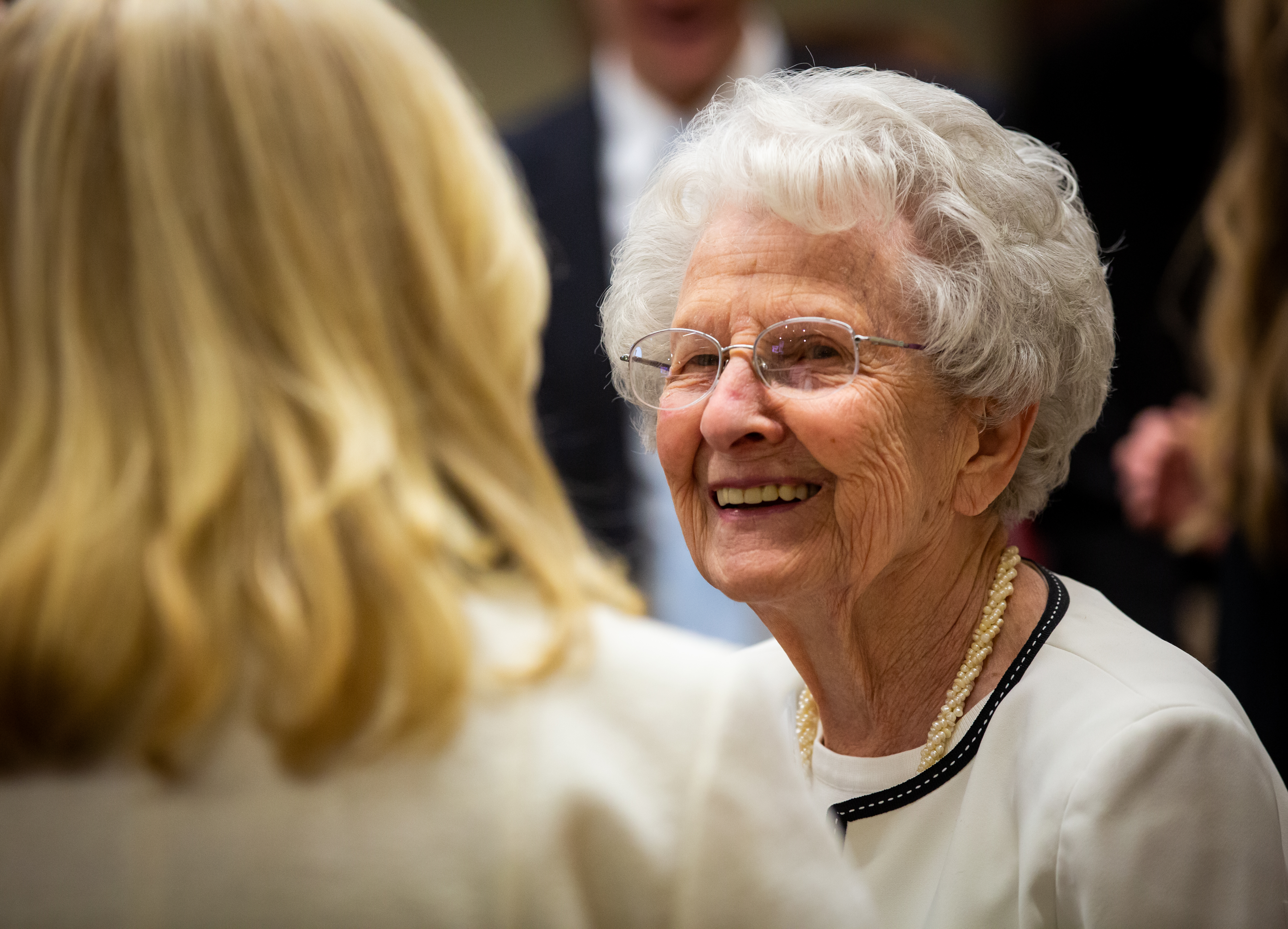 Members of the Hinckley family attend a dinner hosted by the Marjorie Pay Hinckley Endowed Chair in Social Work and the Social Sciences prior to the 15th Annual Marjorie Pay Hinckley Lecture on Feb. 7, 2019 on the BYU Provo, Utah campus.