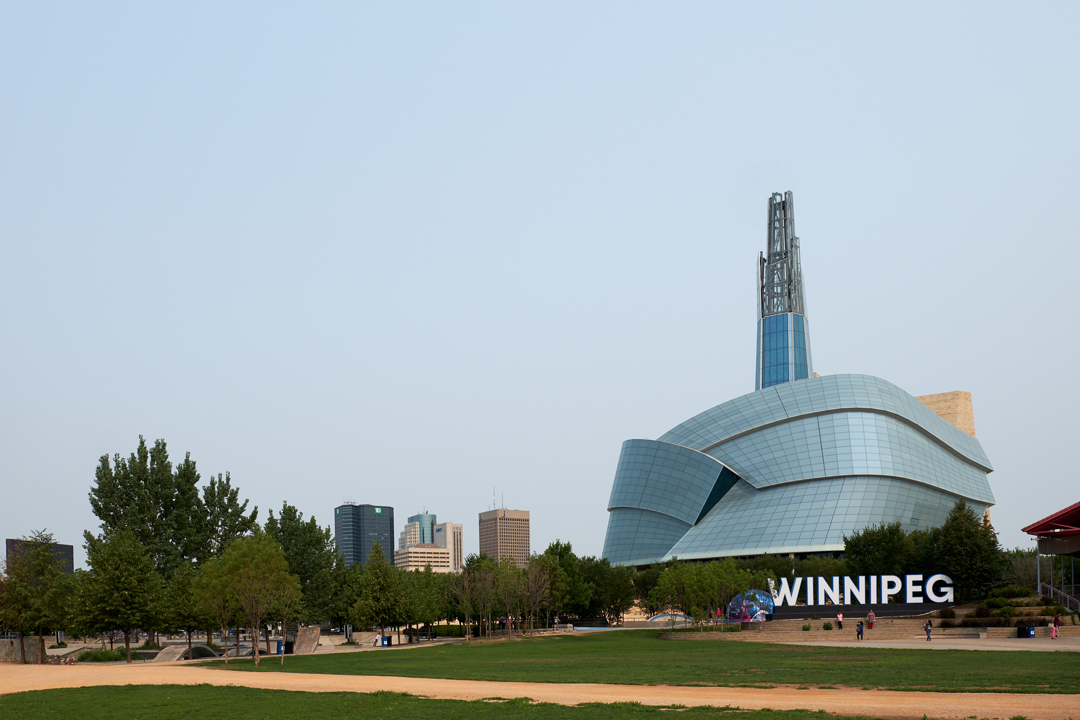 A cityscape of Winnipeg, Manitoba, where President Russell M. Nelson stopped during a three-day trip to central and eastern Canada Aug. 17-19.