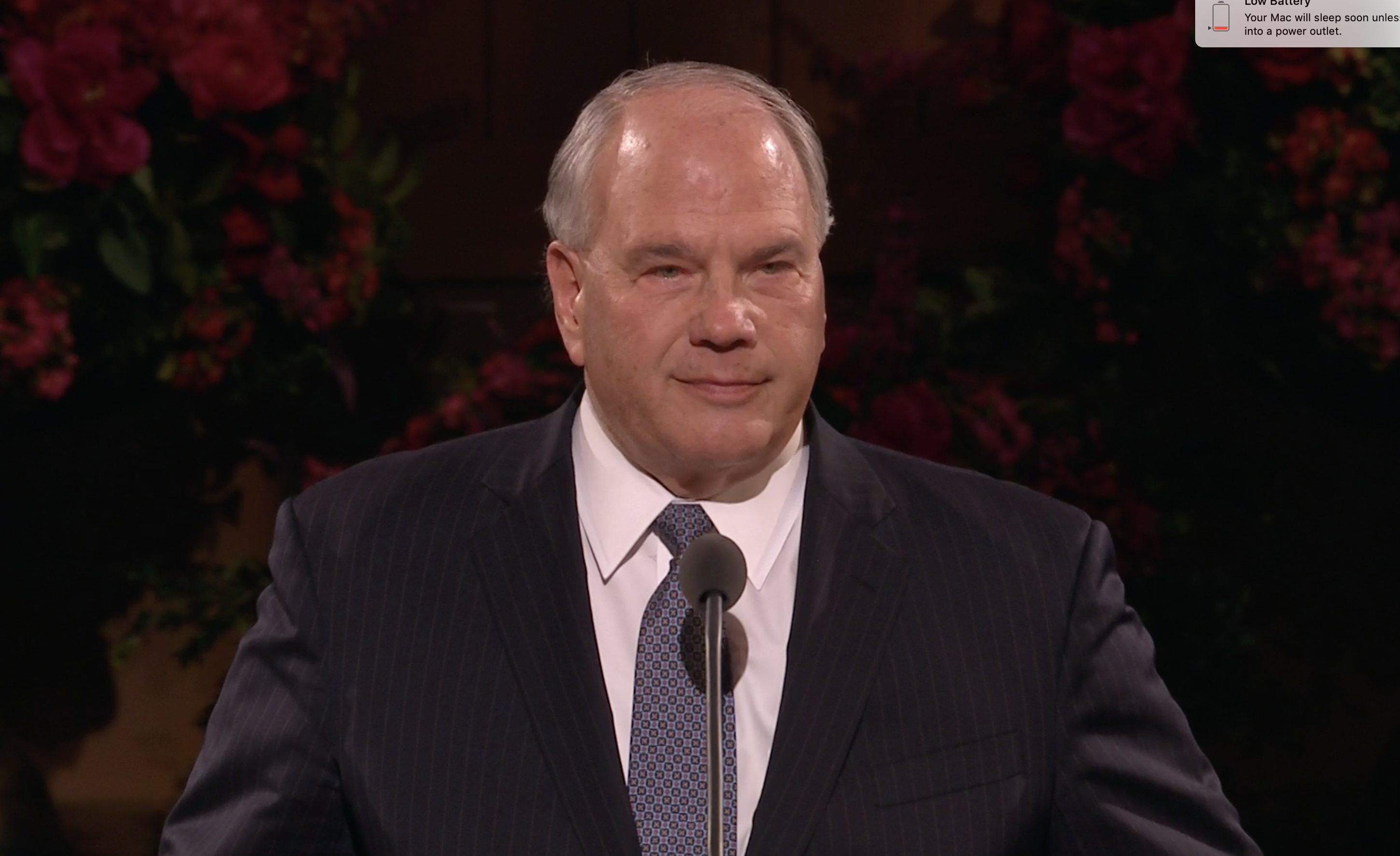 """Elder Ronald A. Rasband of the Quorum of the Twelve Apostles addresses Church Educational System employees, missionaries and their spouses during """"An Evening with a General Authority"""" devotional, which was broadcast from the Tabernacle on Temple Square on Feb. 8, 2019."""