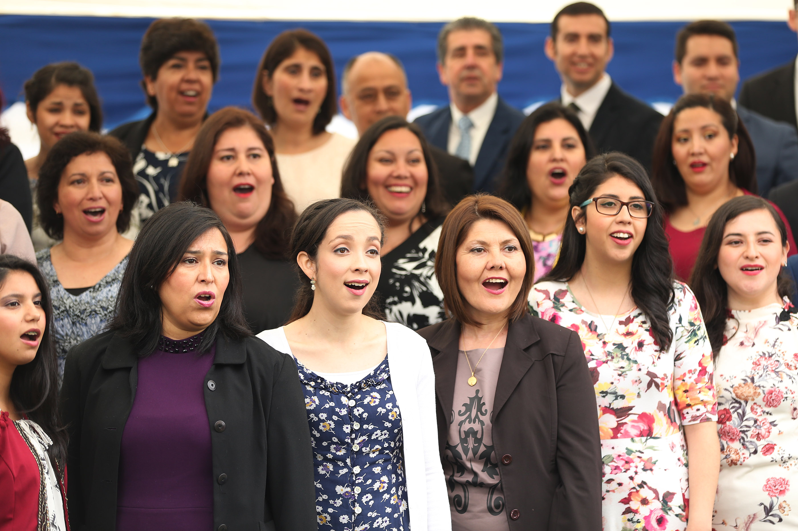 A choir sings during the dedication of the LDS Concepcion Chile Temple in Concepcion, Chile on Sunday, Oct. 28, 2018.