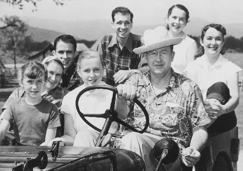 Ezra Taft Benson pictured with his family. President Benson served as secretary of agriculture for eight years while President Eisenhower served as president of the U.S.